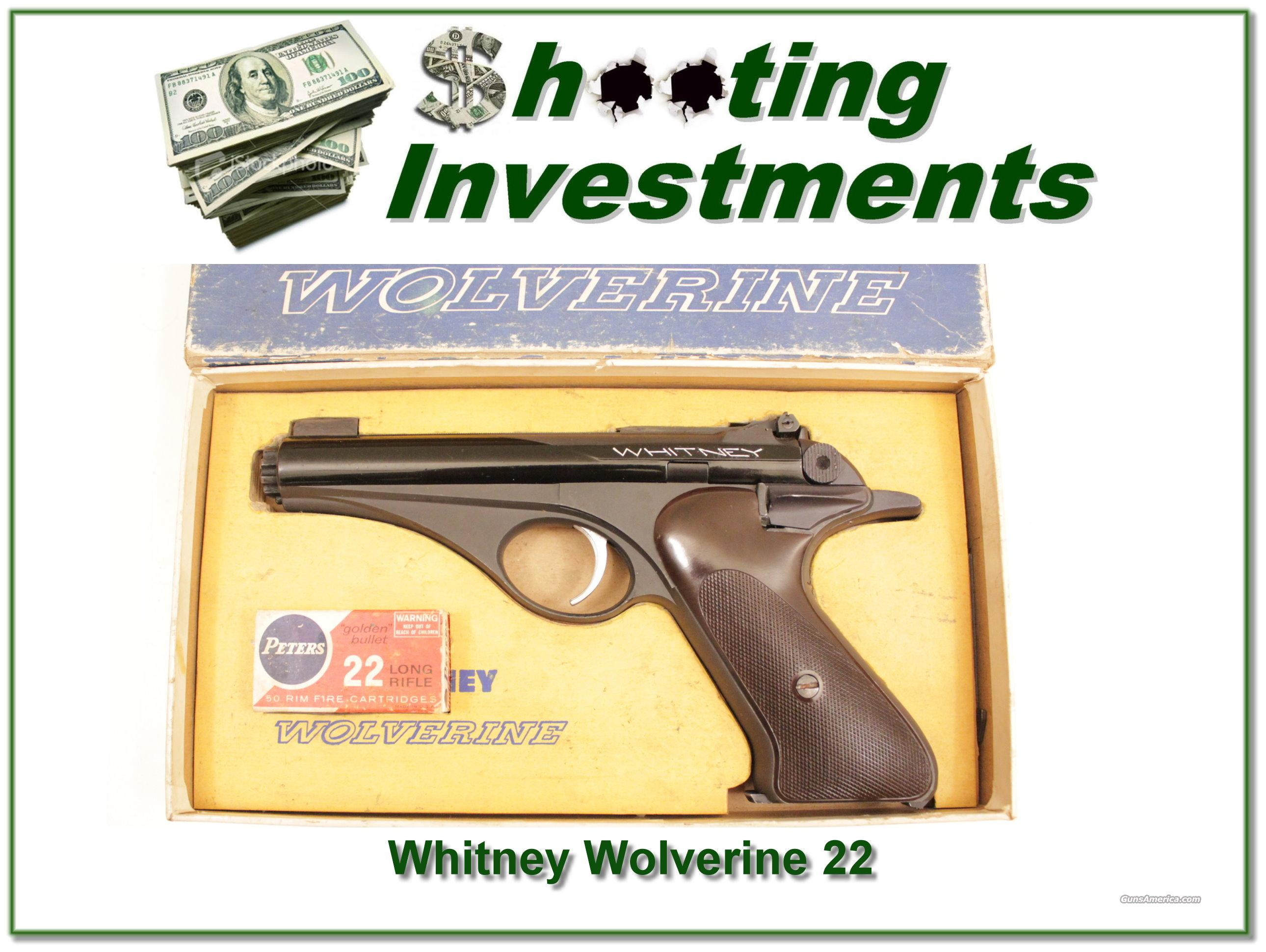 Whitney Wolverine vintage orignal in box  Guns > Pistols > Whitney Arms Pistols