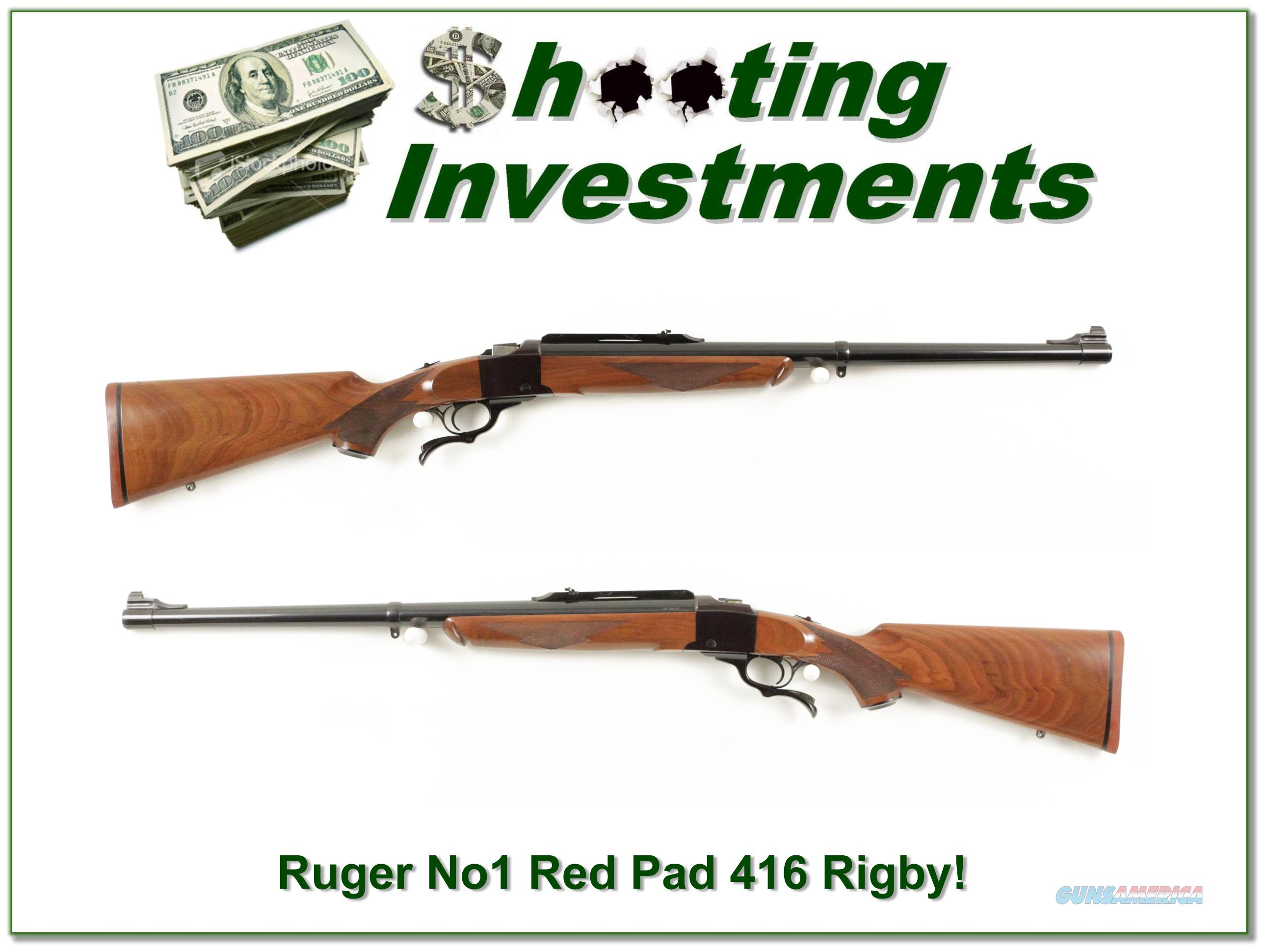 Ruger No. 1 416 Rigby early Red Pad Exc!  Guns > Rifles > Ruger Rifles > #1 Type