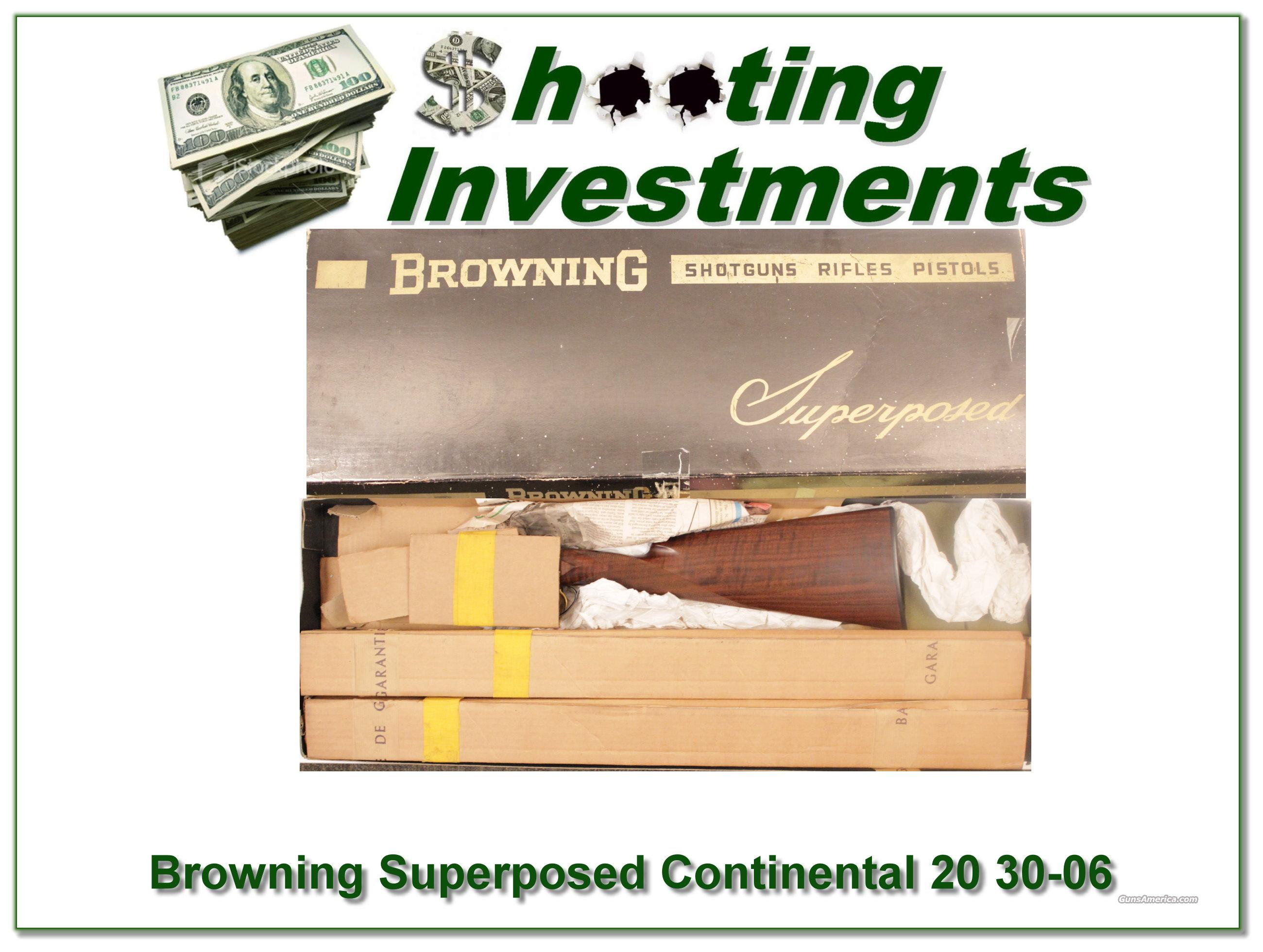 Browning Superposed Continental 20 Gauge 30-06 in box!  Guns > Shotguns > Browning Shotguns > Over Unders > Belgian Manufacture