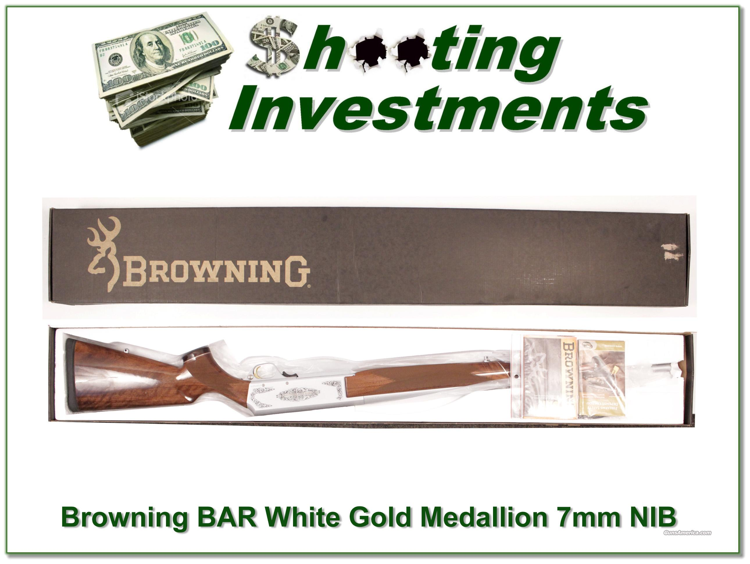 Browning BAR White Gold Medallion 7mm!  Guns > Rifles > Browning Rifles > Semi Auto > Hunting