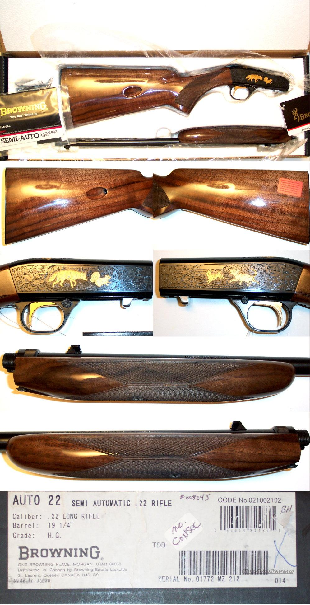 Browning 22 auto Grade IV new  Guns > Rifles > Browning Rifles > Semi Auto > Hunting