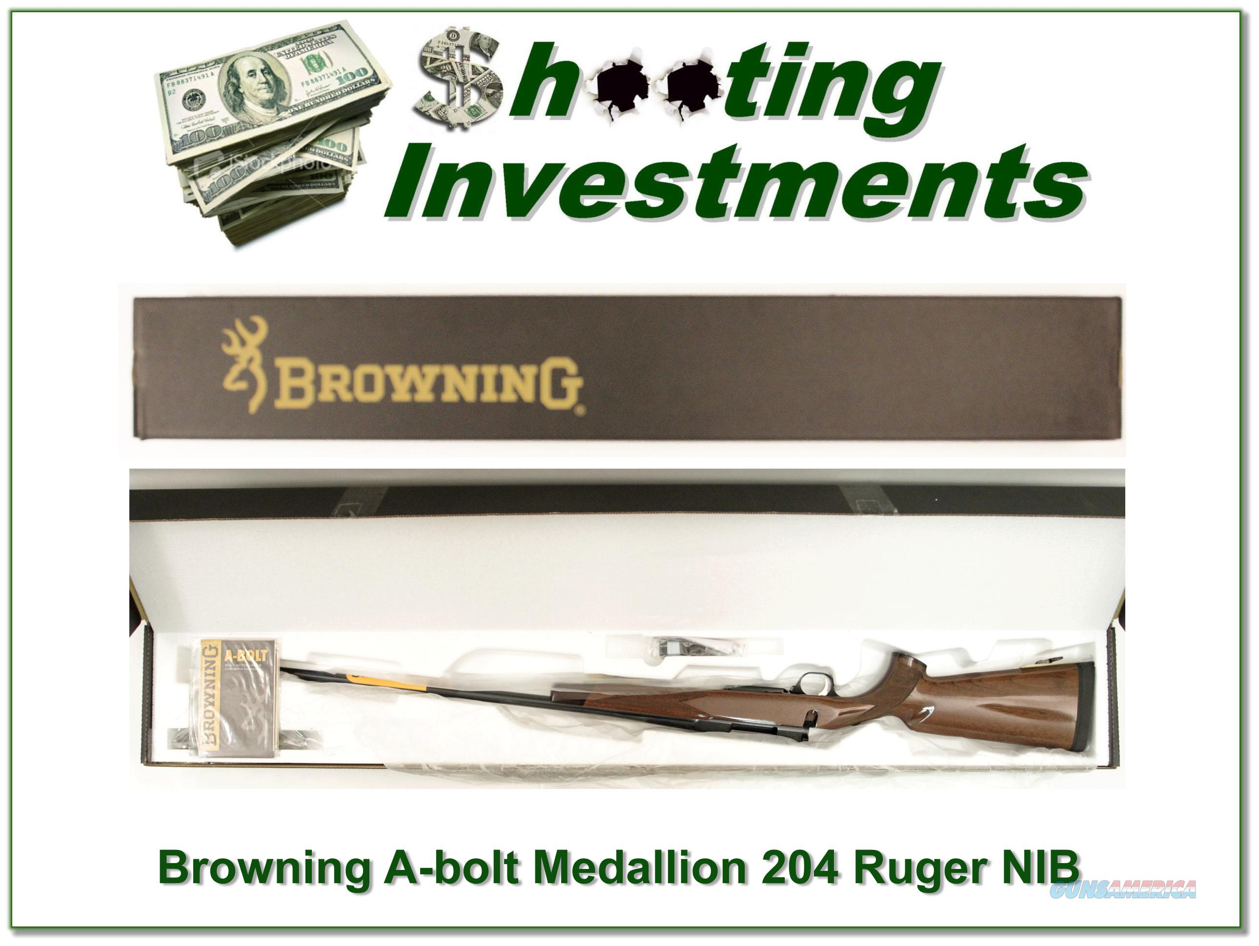 Browning A-bolt II Medallion 204 Ruger last ones!  Guns > Rifles > Browning Rifles > Bolt Action > Hunting > Blue