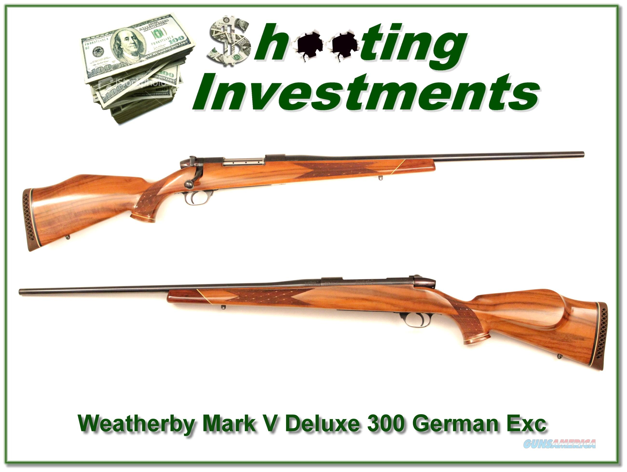 Weatherby Mark V Deluxe German 300 Wthy Mag  Guns > Rifles > Weatherby Rifles > Sporting