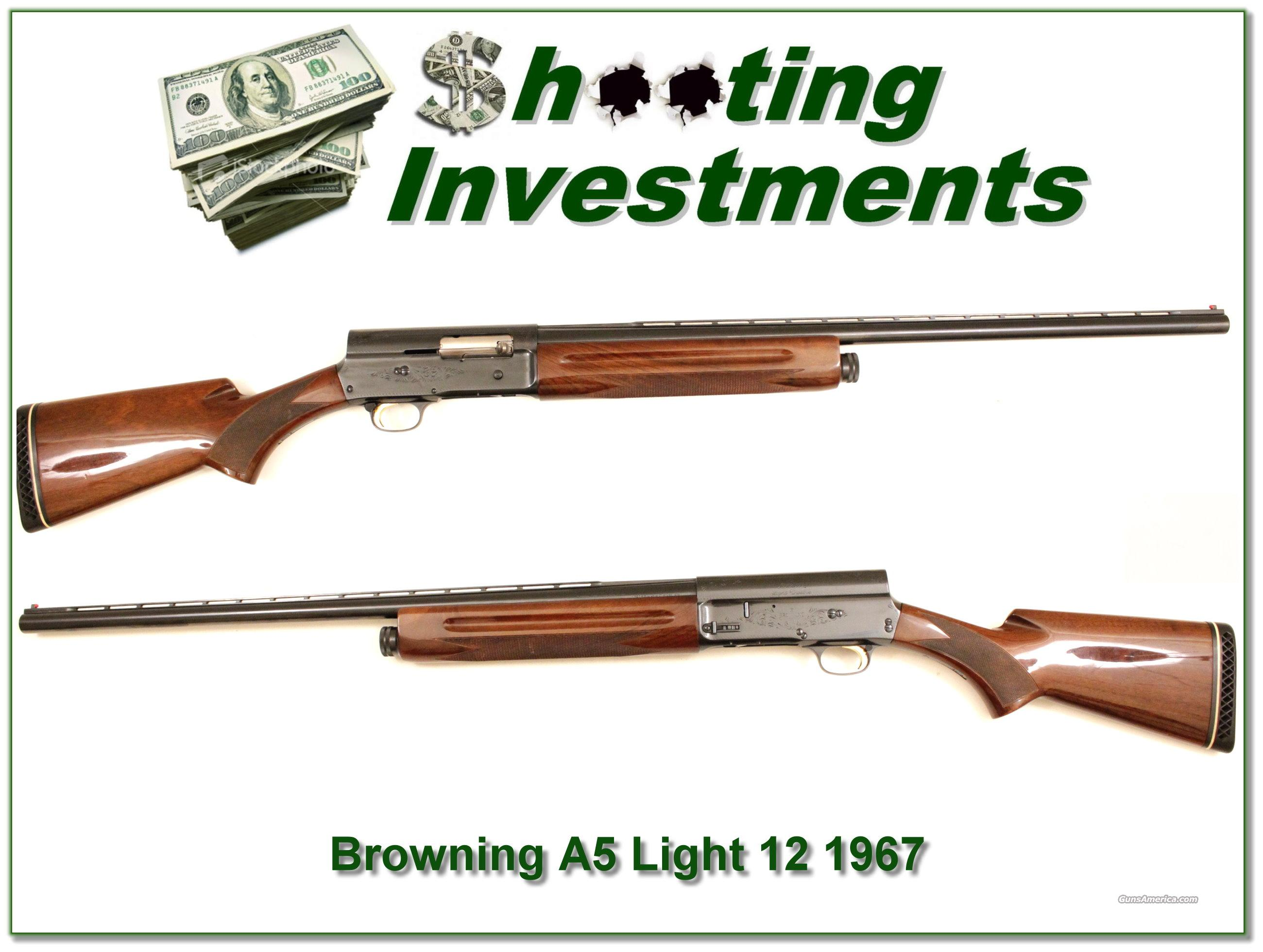 Browning A5 light 12 '67 Belgium vent rib  Guns > Shotguns > Browning Shotguns > Autoloaders > Hunting
