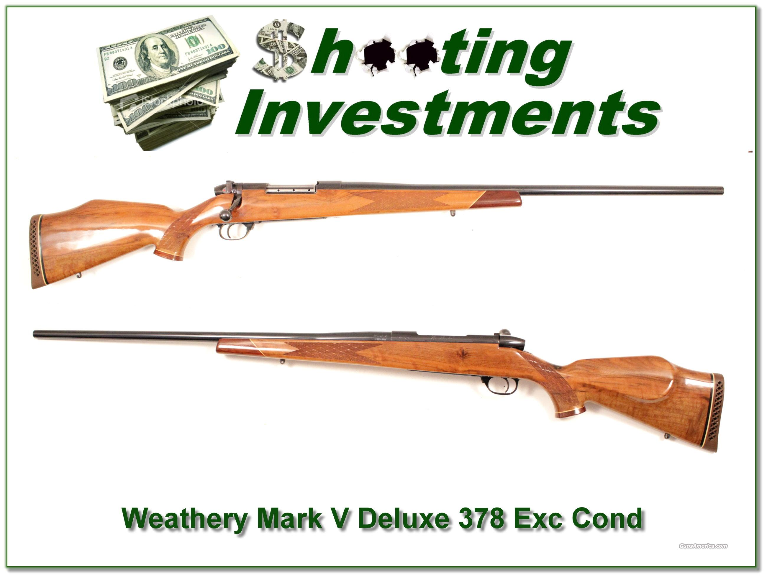 Weatherby Mark V Deluxe 378 26in near new!  Guns > Rifles > Weatherby Rifles > Sporting