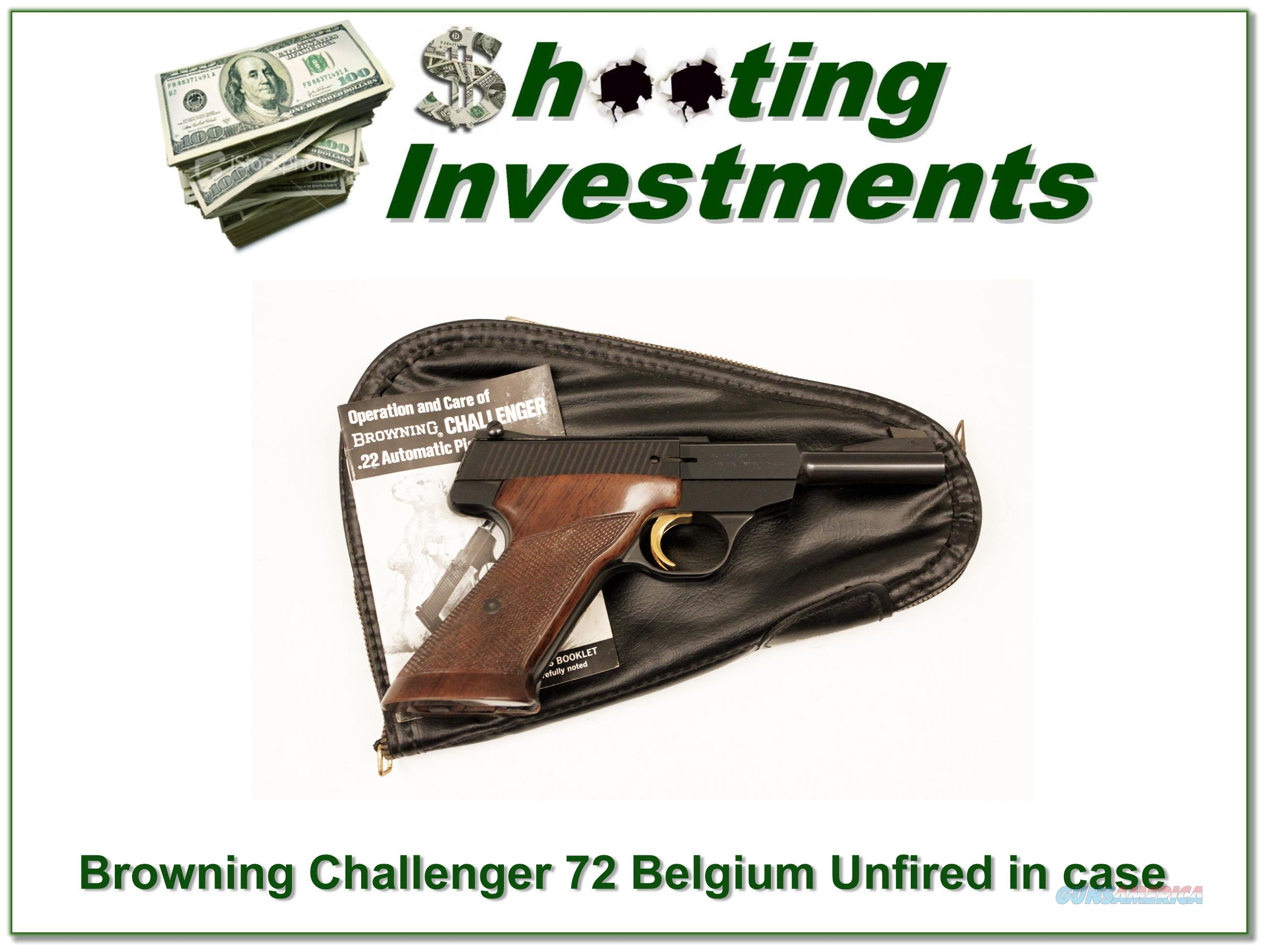 Browning Challenger 72 Belgium unfired in case with manual!  Guns > Pistols > Browning Pistols > Other Autos