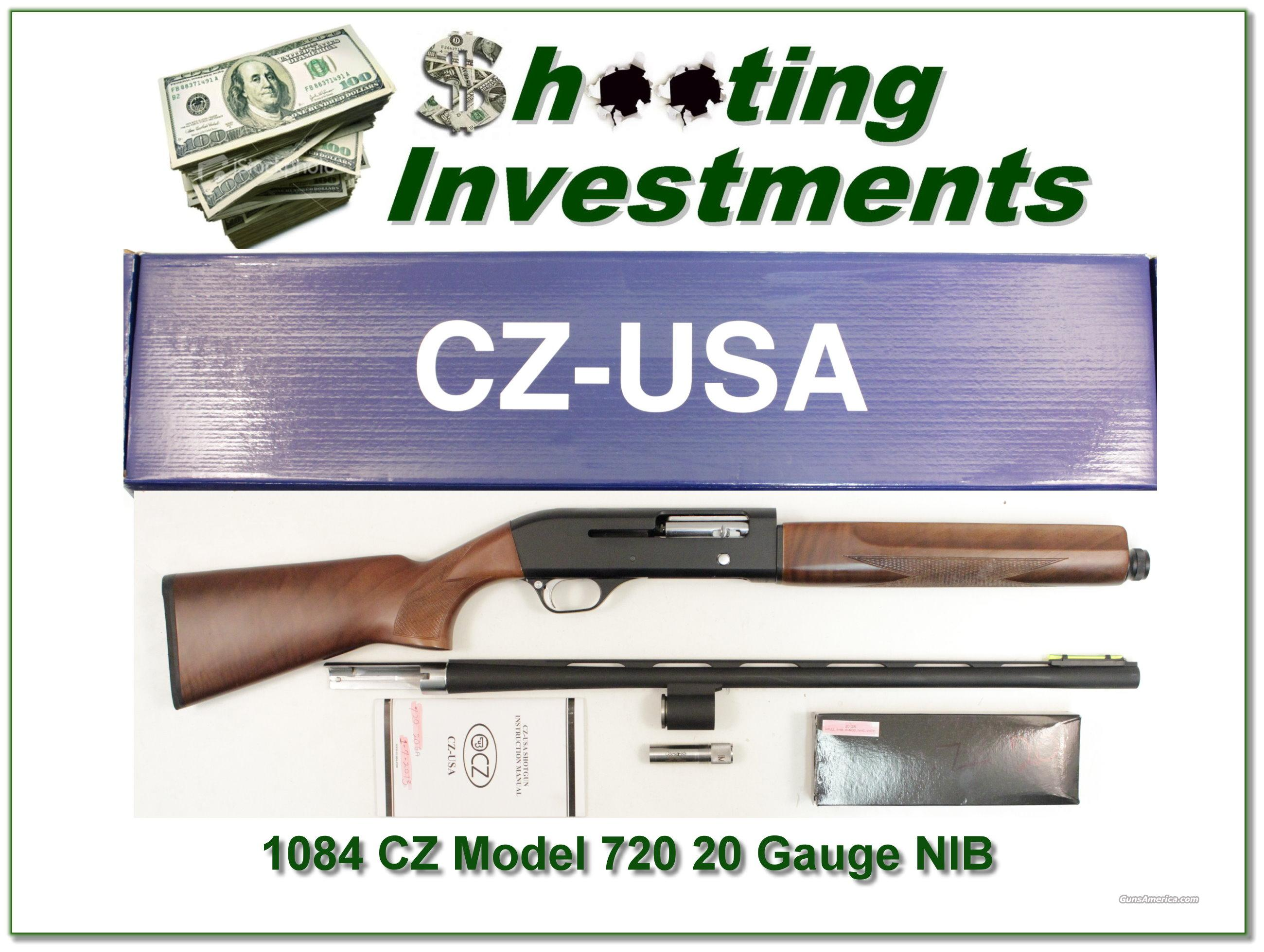 CZ Model 720 20 Gauge NIB with extra nice wood!  Guns > Rifles > Winchester Rifles - Pre-1899 Lever