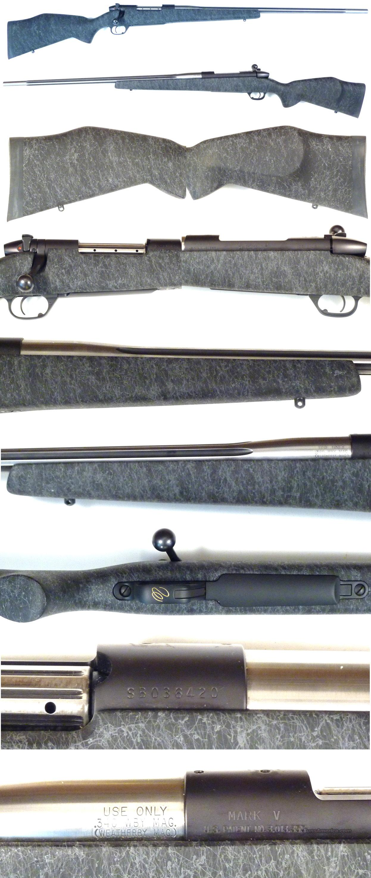 Weatherby Mark V Accumark 340 Wthy Mag new cond  Guns > Rifles > Weatherby Rifles > Sporting