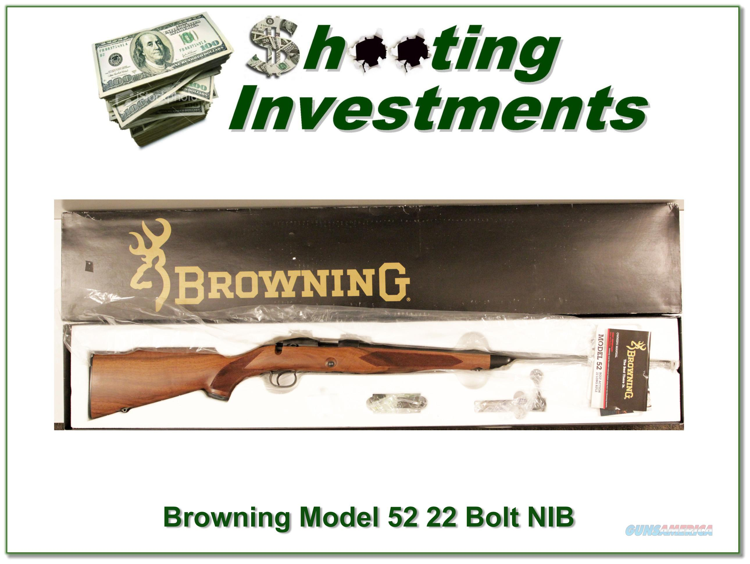 Browning Model 52 NIB and perfect!  Guns > Rifles > Browning Rifles > Bolt Action > Hunting > Blue