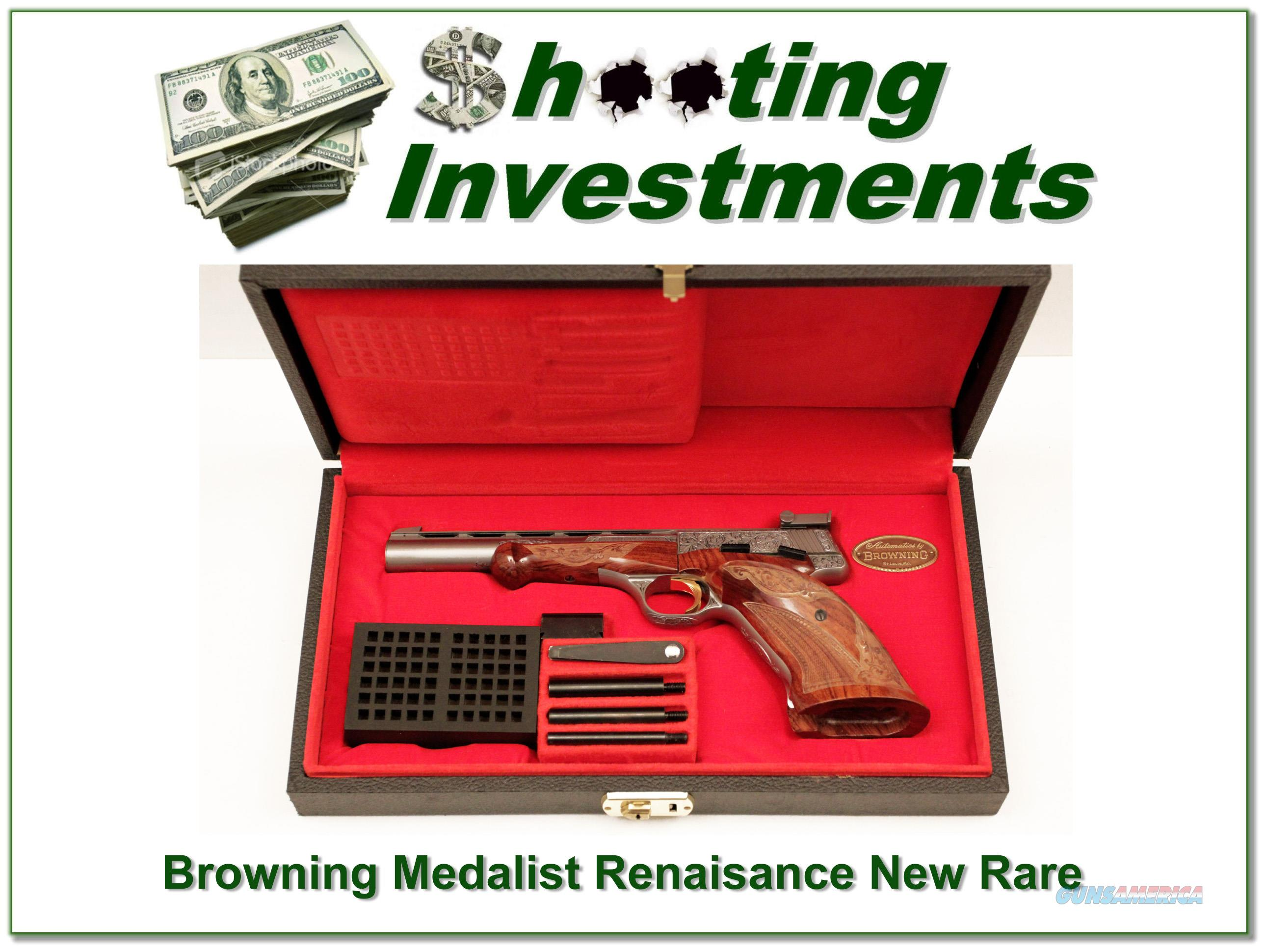 Browning Medalist Renaissance RARE unfired in case!  Guns > Pistols > Browning Pistols > Other Autos