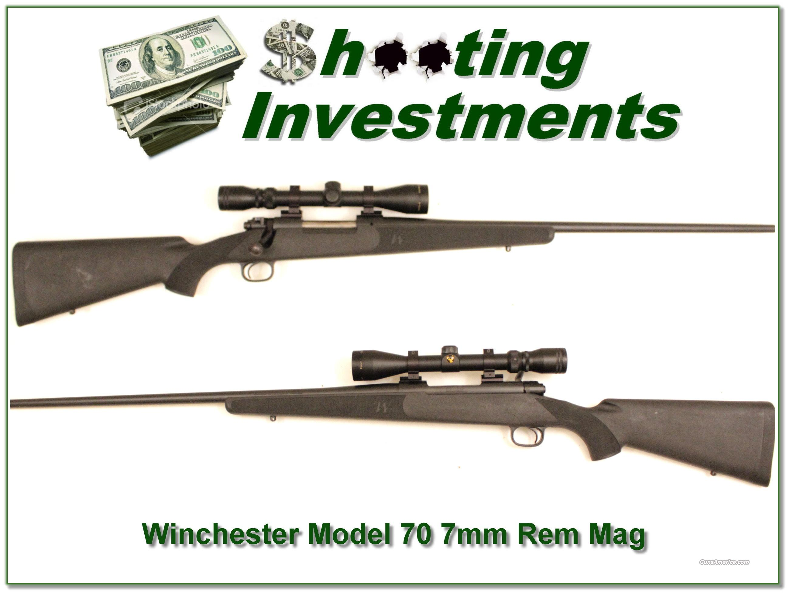 Winchester 70 Blue Synthetic 7mm Rem Mag w Scope  Guns > Rifles > Winchester Rifles - Modern Bolt/Auto/Single > Model 70 > Post-64