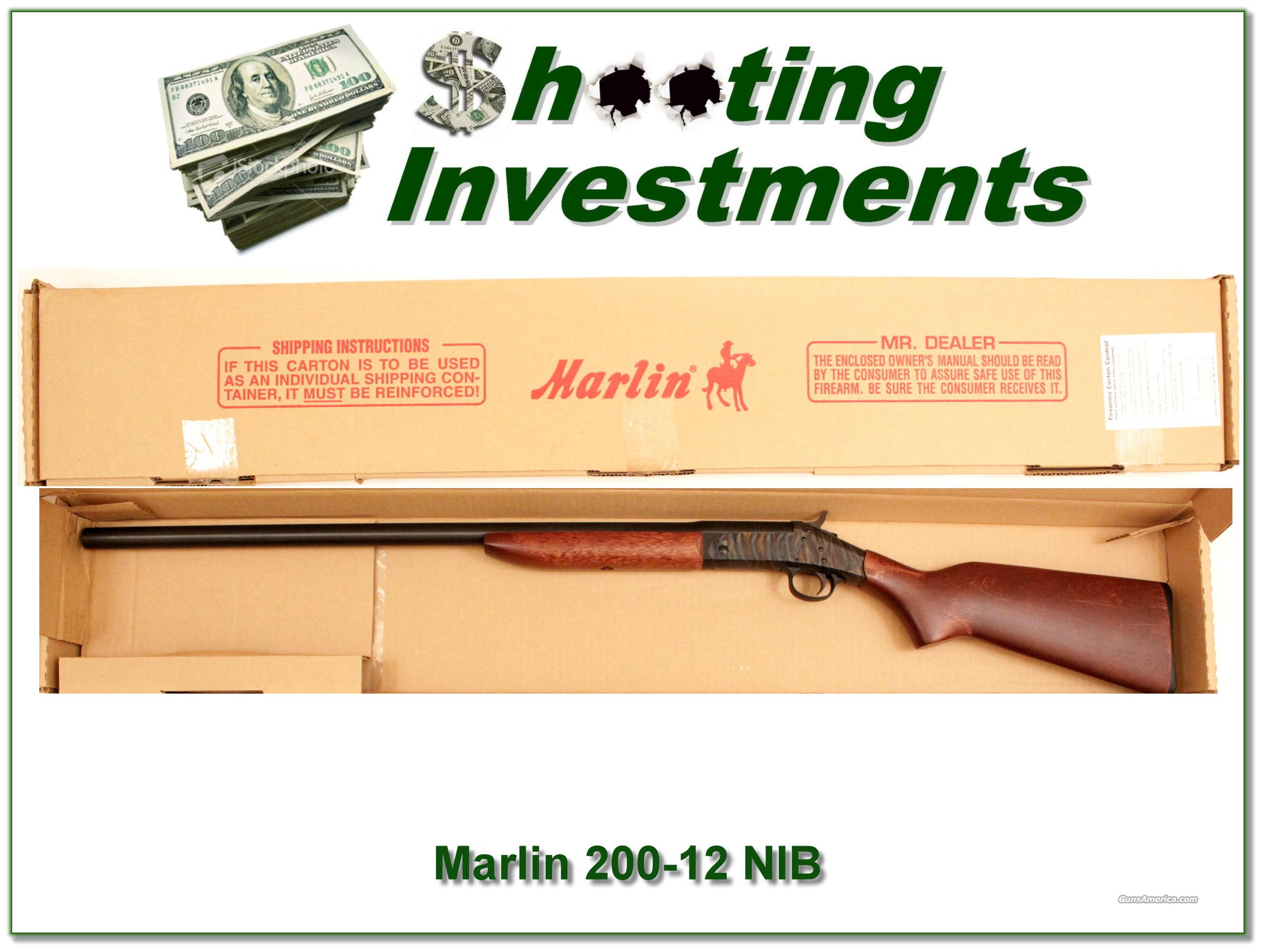 Marlin 200 12 gauge single shot NIB and perfect  Guns > Shotguns > Marlin Shotguns