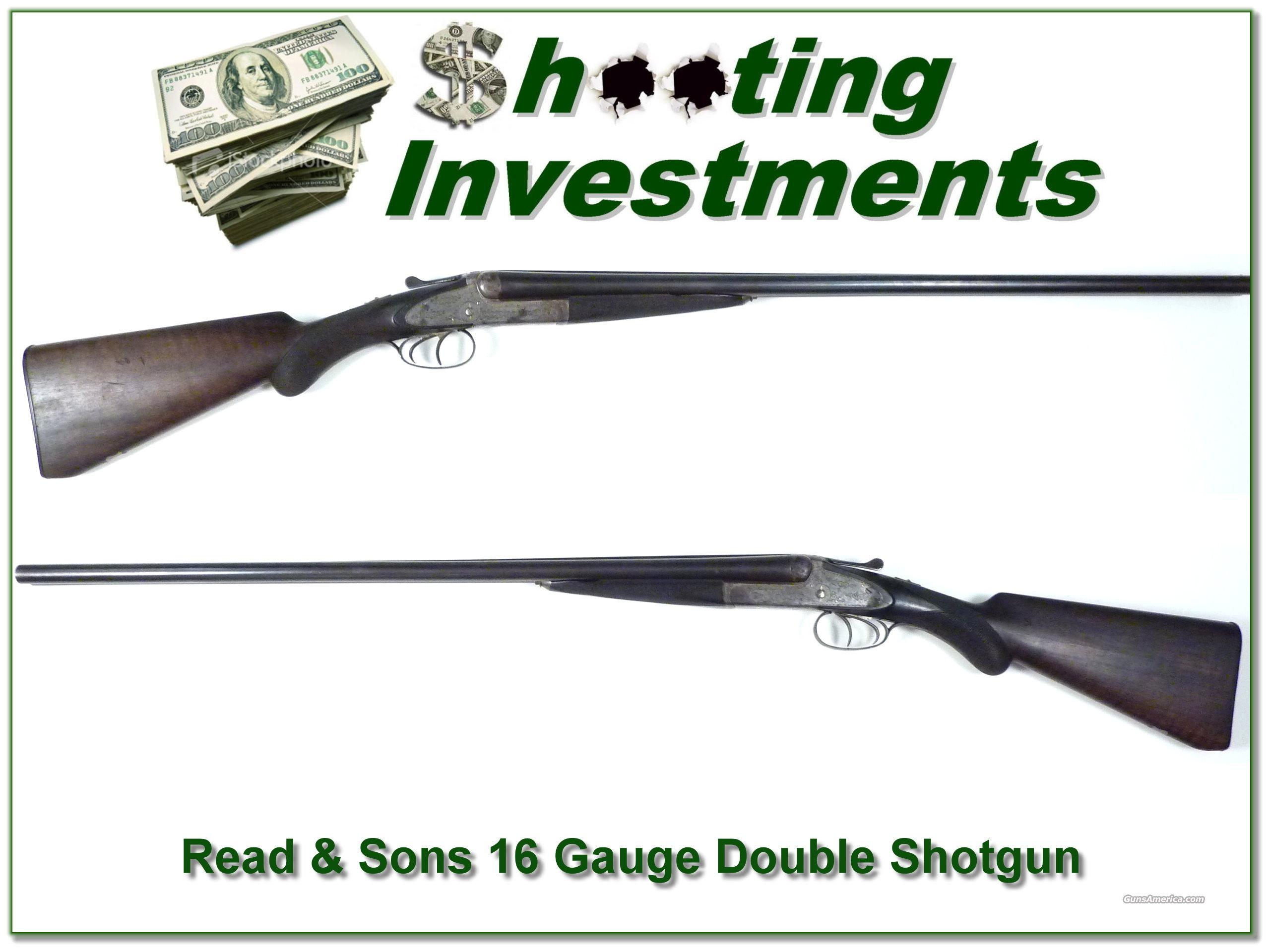 Read & Sons 16 Gauge Double Shotgun  Guns > Shotguns > Double Shotguns (Misc.)  > American