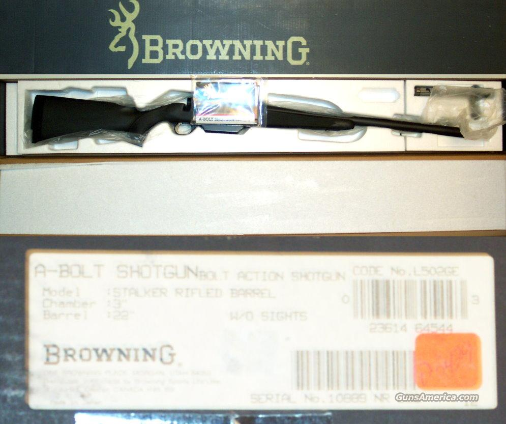 Browning A-bolt 12 gauge stalker, as new  Guns > Rifles > Browning Rifles > Bolt Action > Hunting > Blue