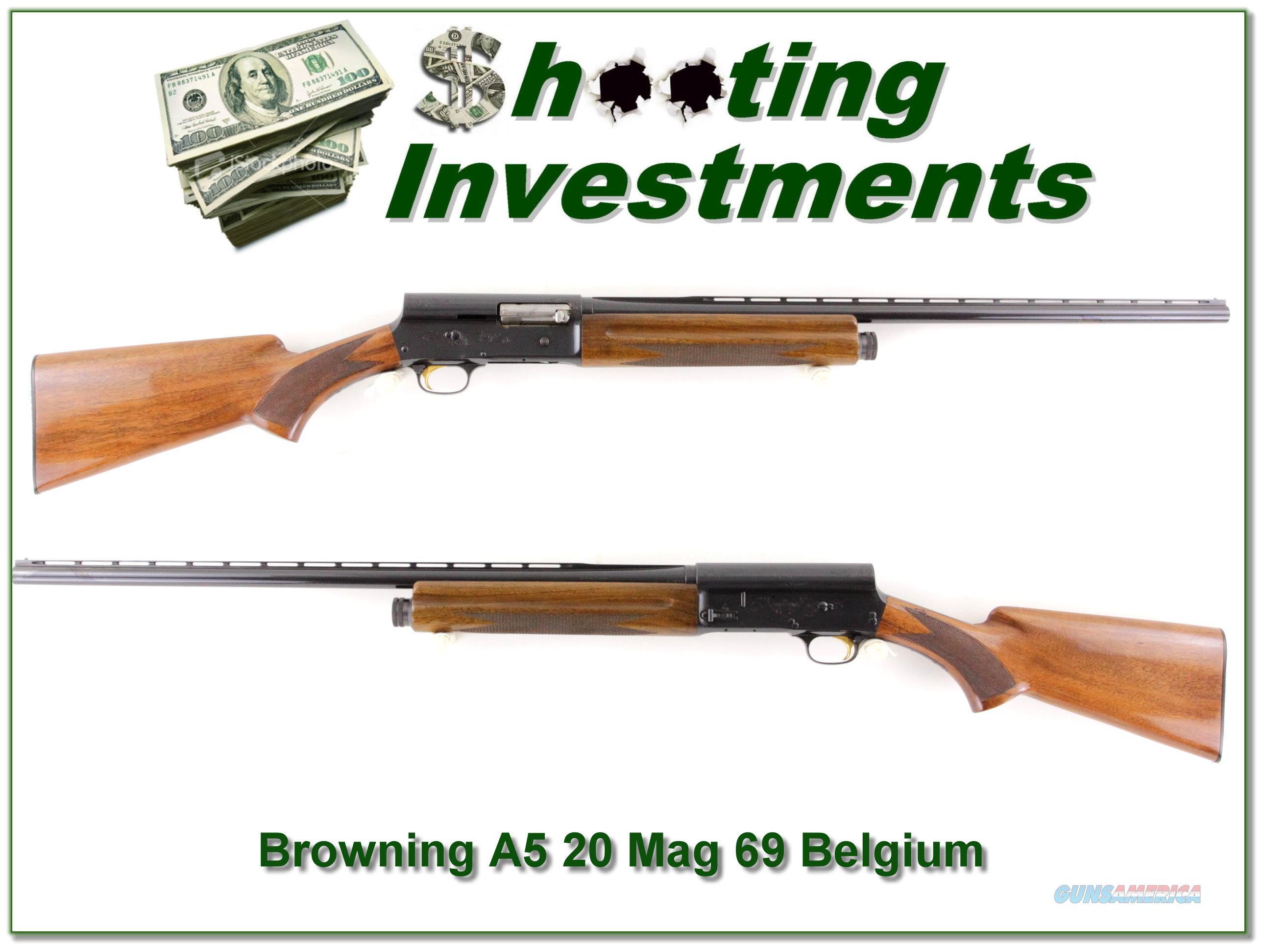 Browning A5 20 Magnum 69 Belgium Vent Rib Mod  Guns > Shotguns > Browning Shotguns > Autoloaders > Hunting