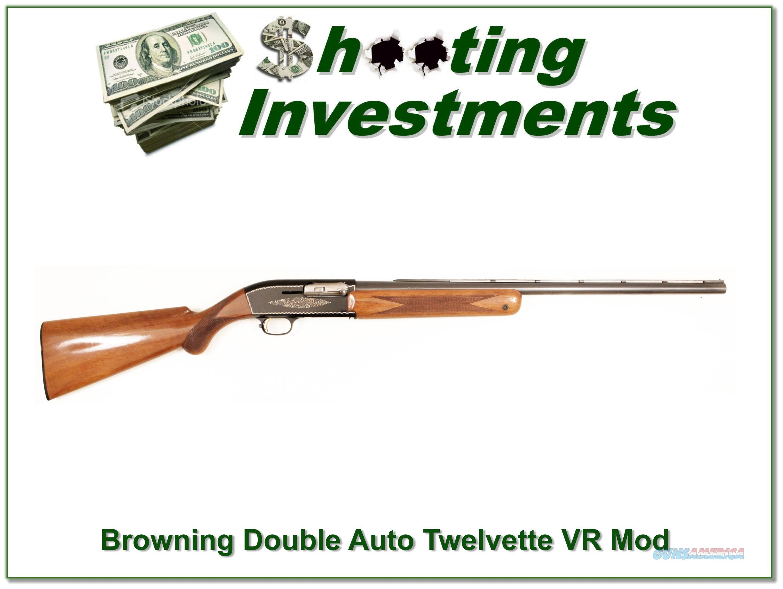 Browning Twelvette '61 Belgium Double Auto Exc Cond  Guns > Shotguns > Browning Shotguns > Autoloaders > Hunting