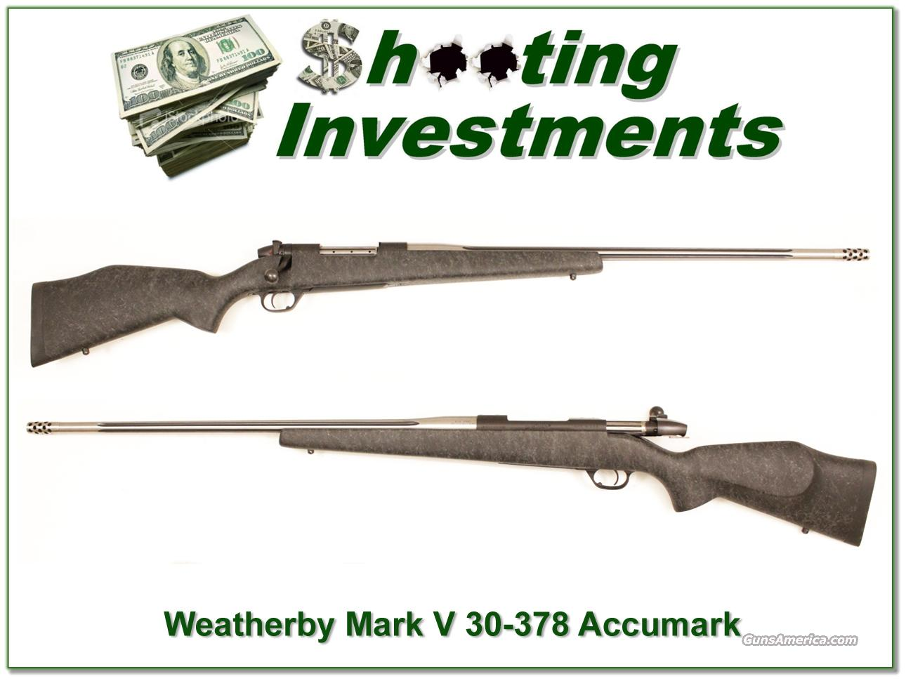 Weatherby Mark V Accumark 30-378 near new  Guns > Rifles > Weatherby Rifles > Sporting