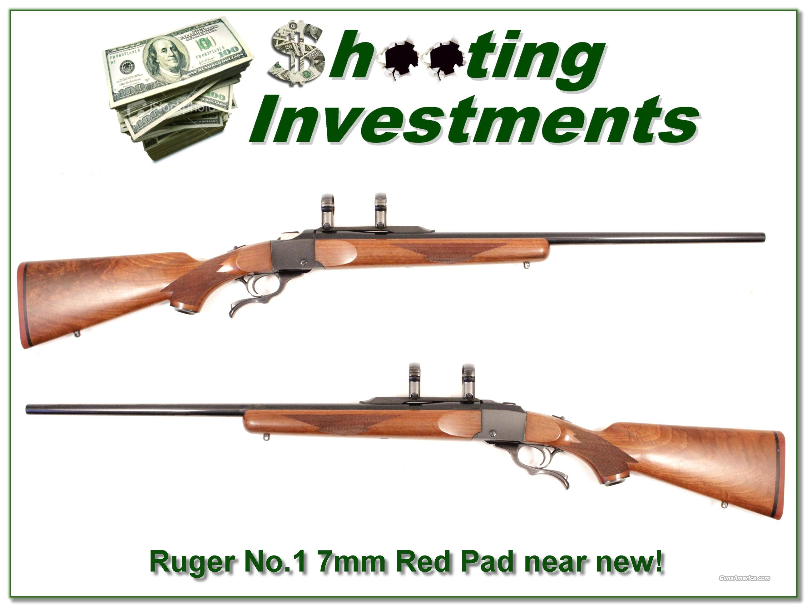 "Ruger No.1 #1 ""Red Pad""  7mm as new!  Guns > Rifles > Ruger Rifles > #1 Type"
