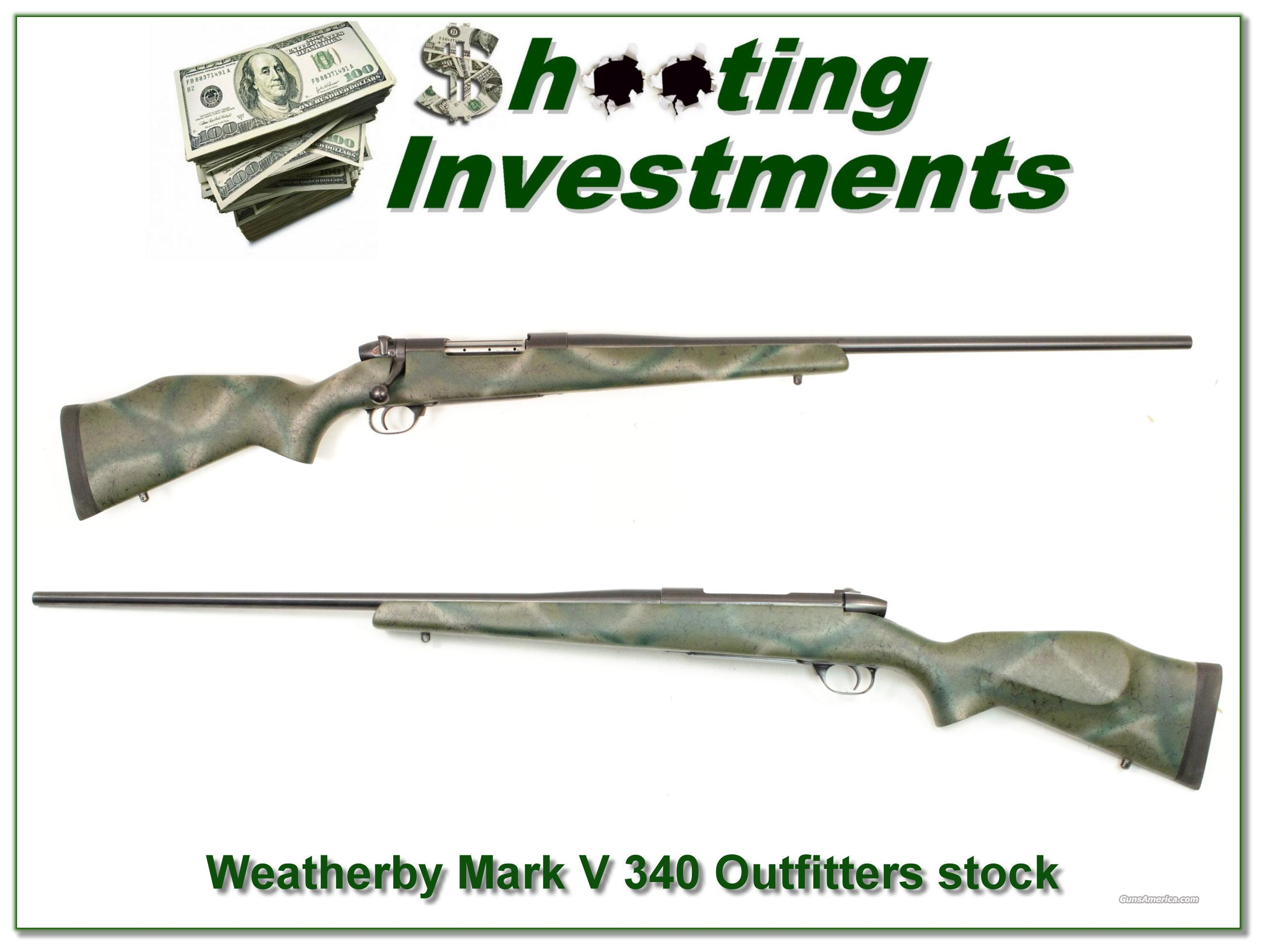 Weatherby Mark V 340 Teflon coated with Outfitters stock  Guns > Rifles > Weatherby Rifles > Sporting