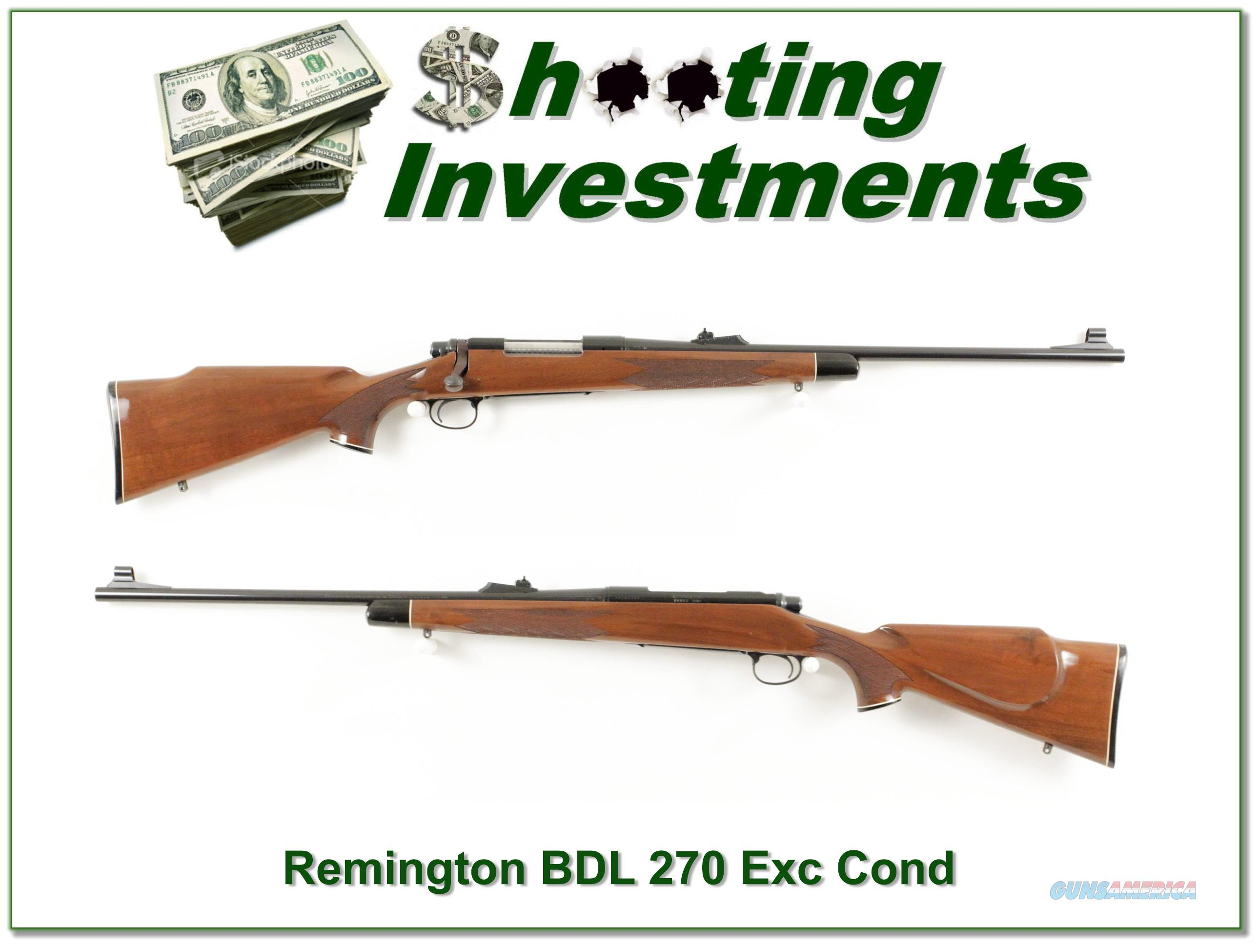 Remington 700 BDL 270 Win Exc Cond  Guns > Rifles > Remington Rifles - Modern > Model 700 > Sporting
