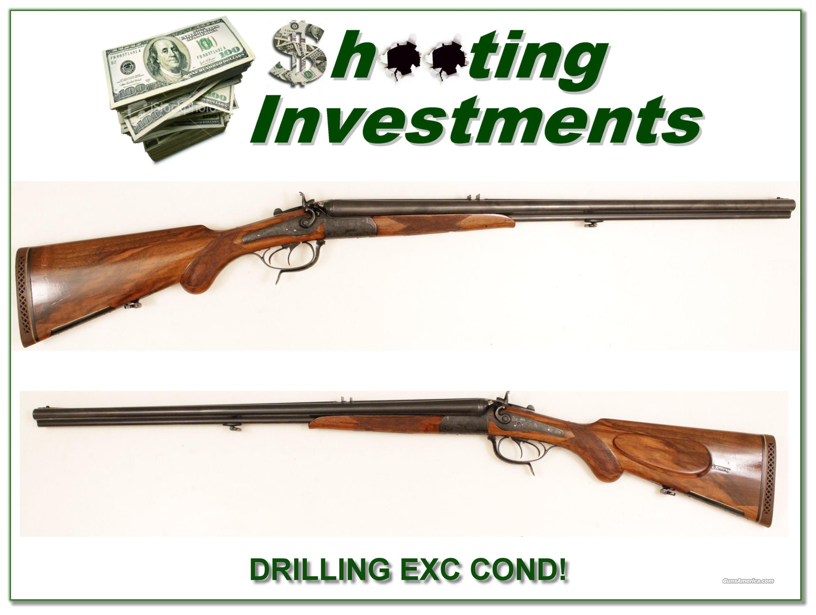 H Stricker Drilling 16 x 16 x 9.3x72  Krupp barrel  Guns > Shotguns > Drilling & Combo Shotgun Rifle Combos