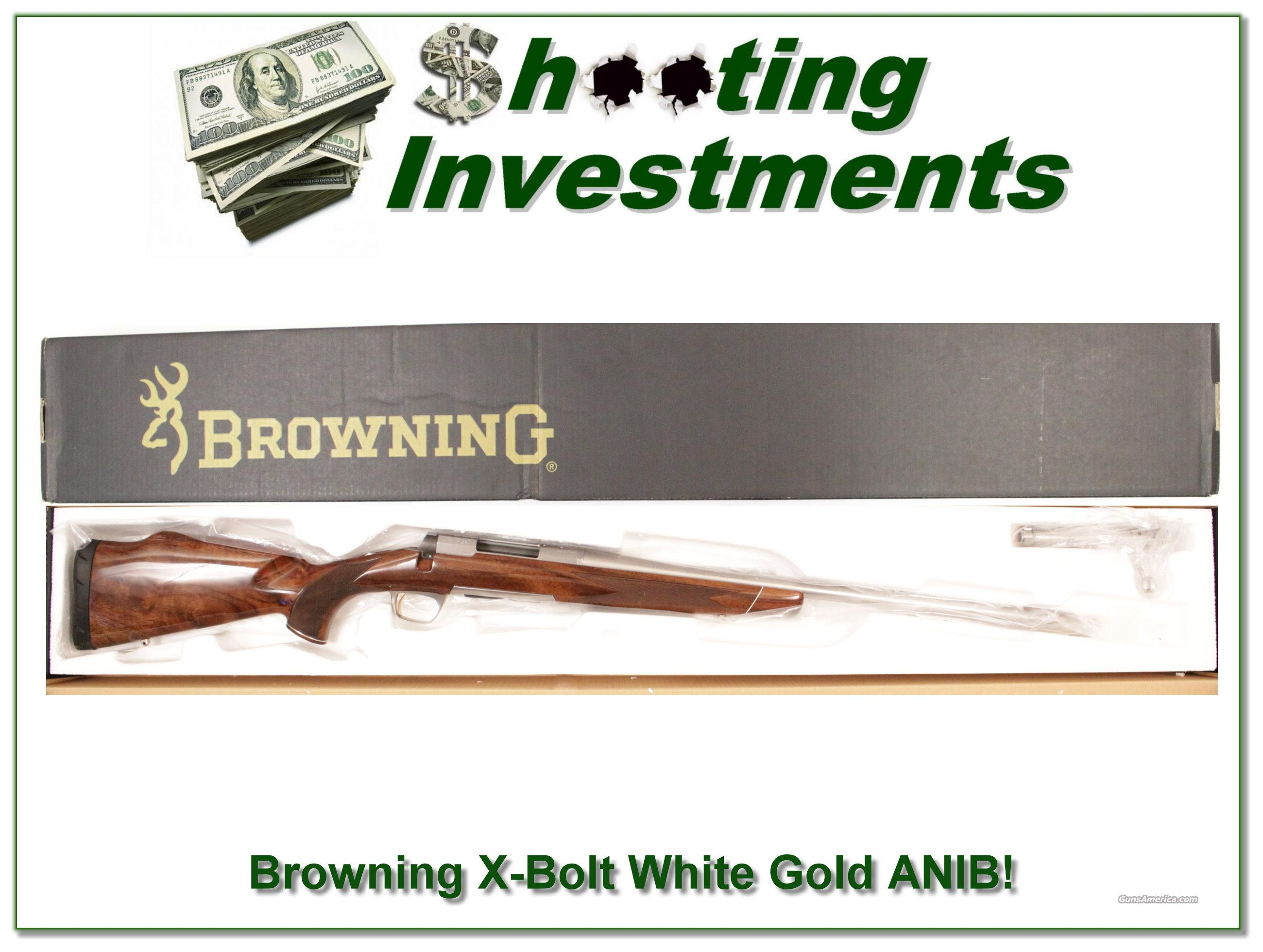 Browning X-Bolt White Gold Medallion 308 ANIB!  Guns > Rifles > Browning Rifles > Bolt Action > Hunting > Stainless