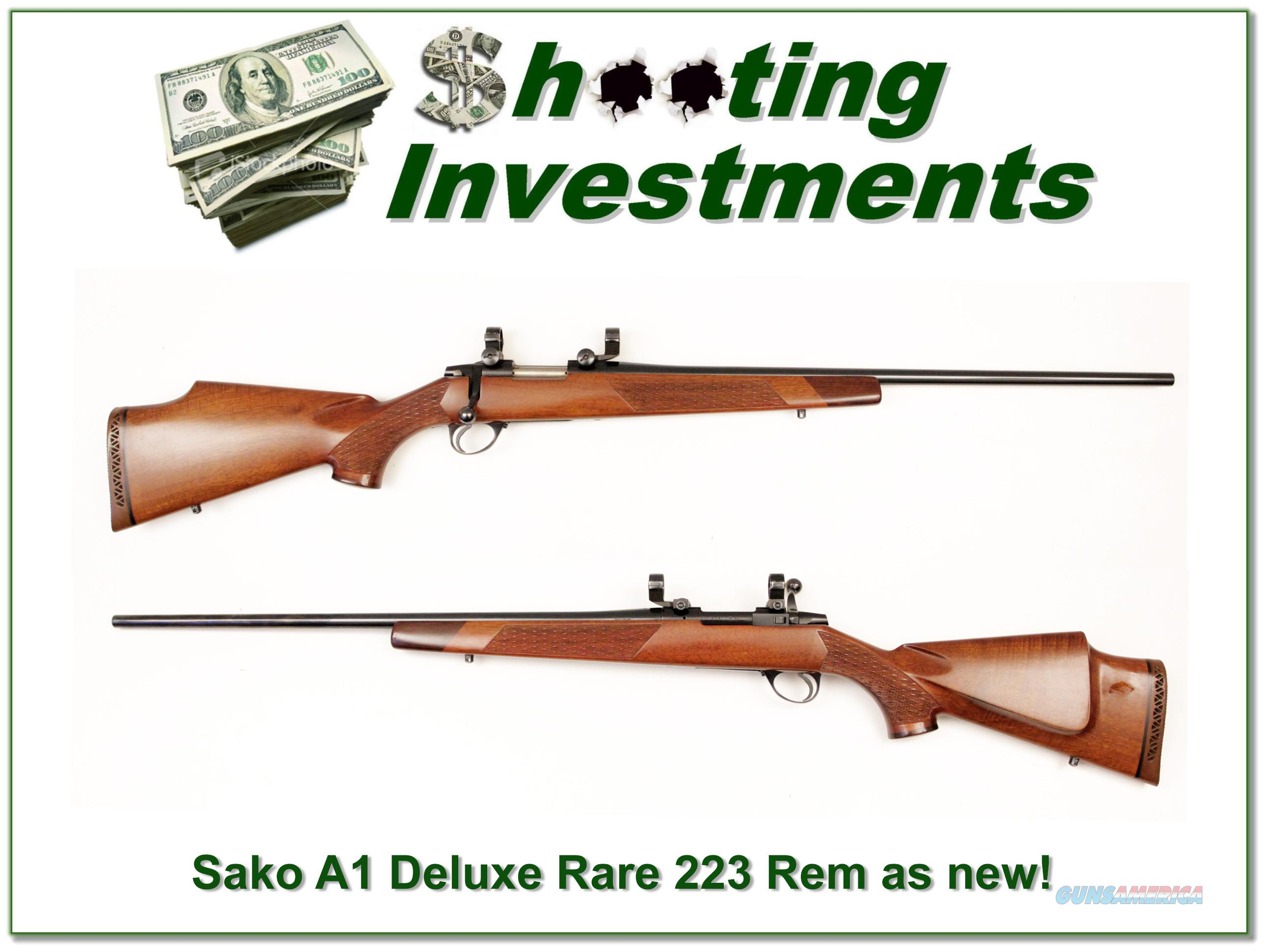 Sako A1 Deluxe in RARE 223 Remington as new!  Guns > Rifles > Sako Rifles > Other Bolt Action