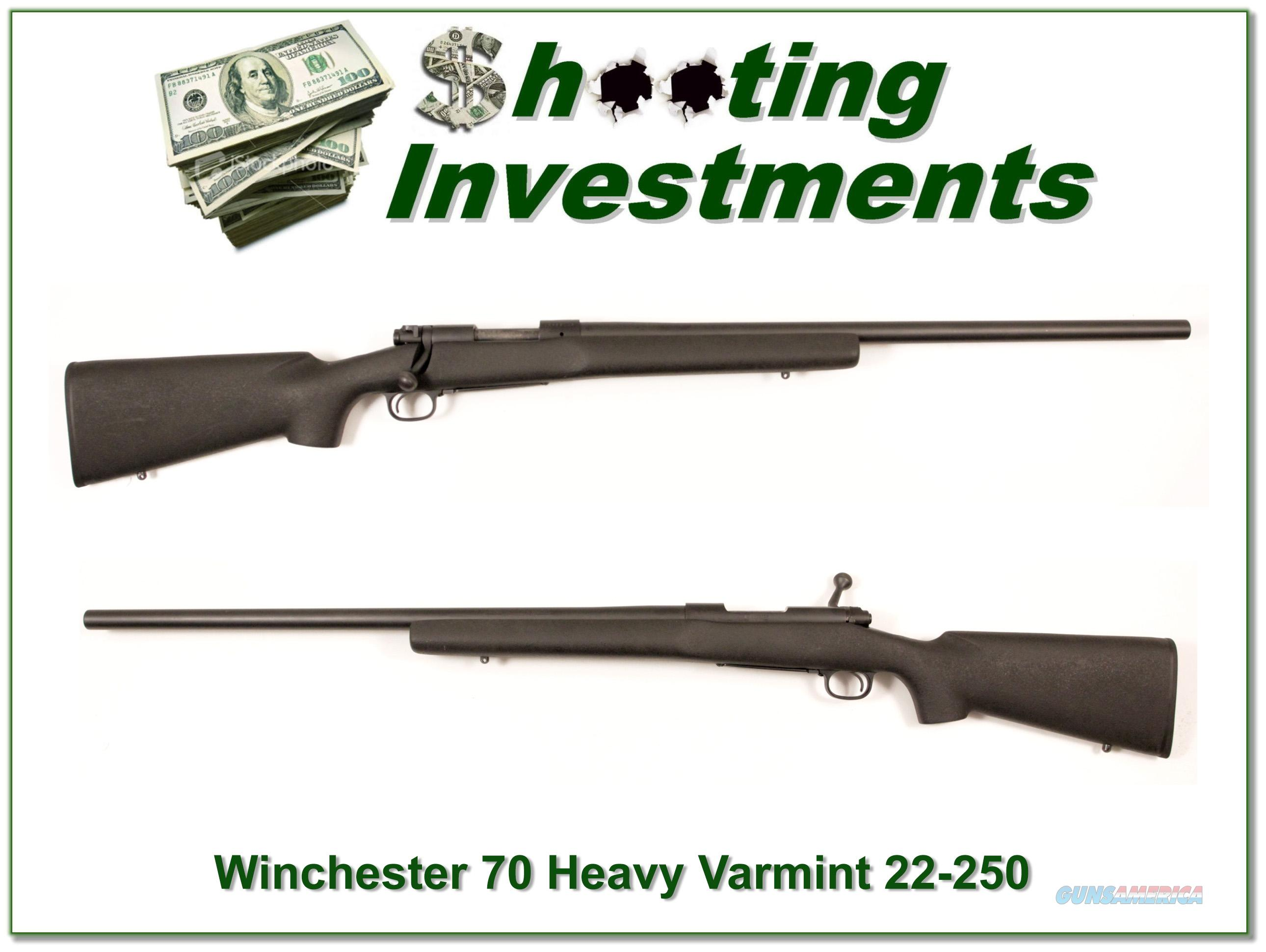 Winchester Model 70 Heavy Varmint 22-250  Guns > Rifles > Winchester Rifles - Modern Bolt/Auto/Single > Other Bolt Action