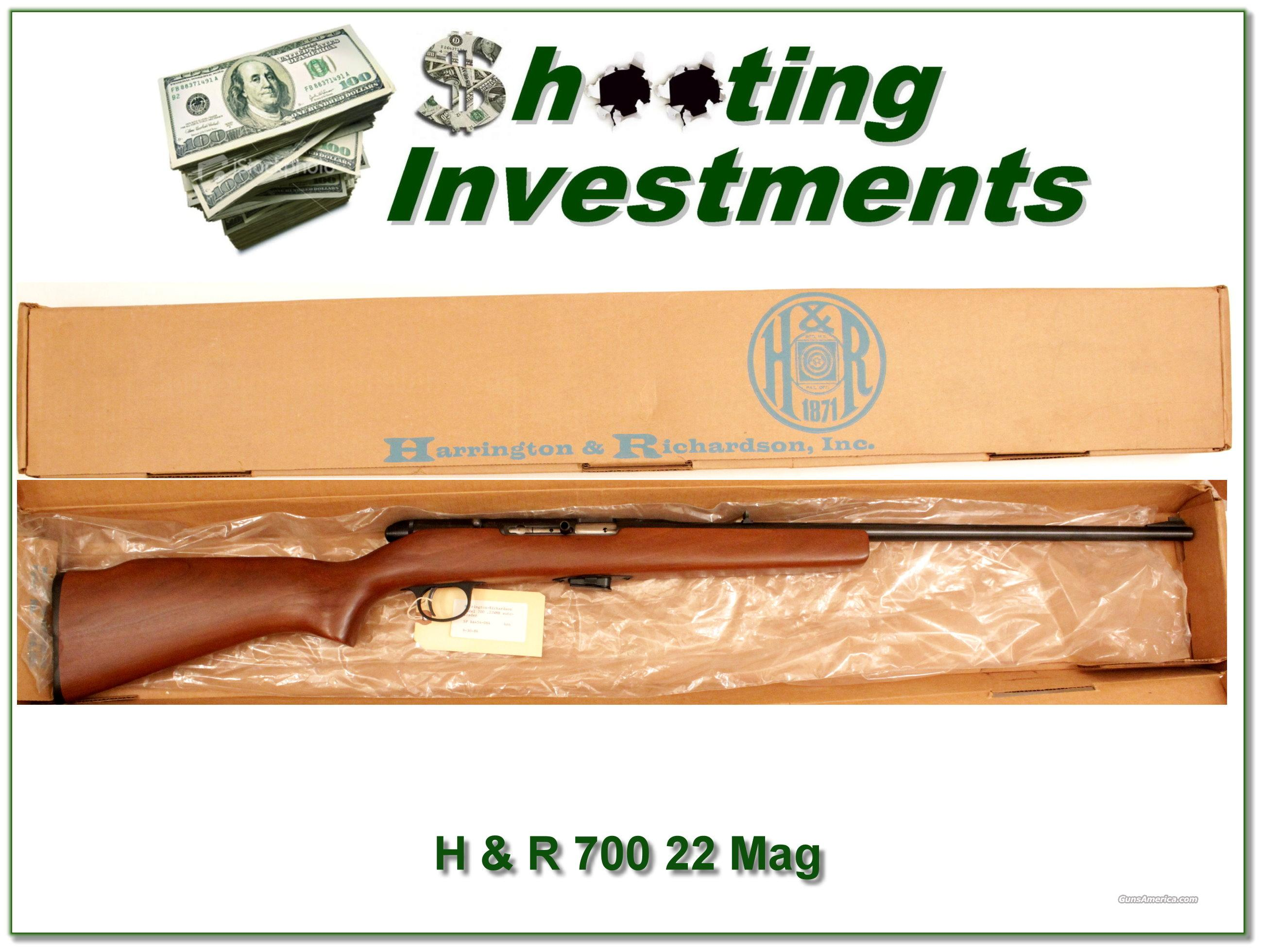 Harrington & Richardson 700 22 Magnum NIB  Guns > Rifles > Harrington & Richardson Rifles