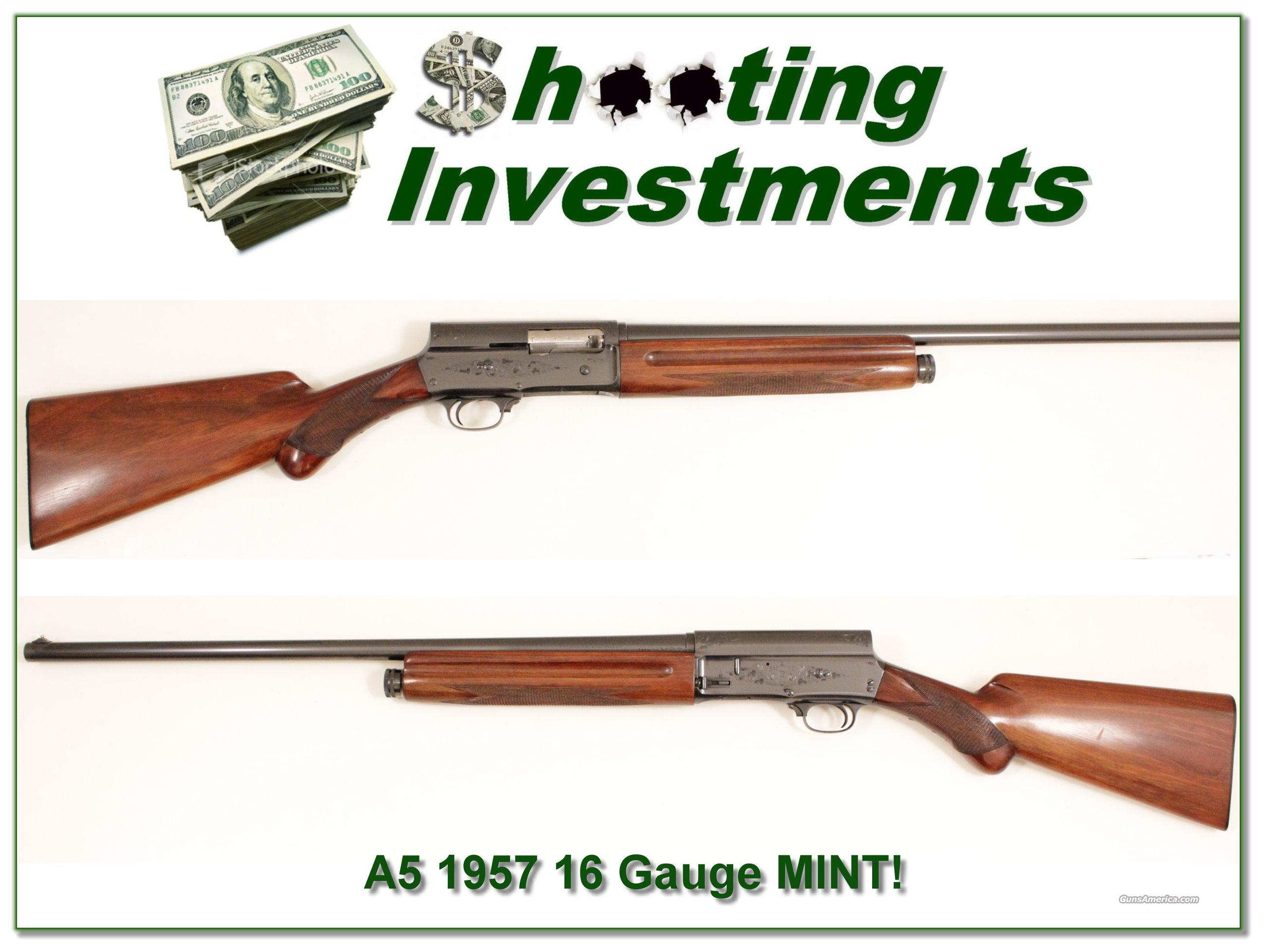 Browning A5 '51 Belgium 16 gauge in collector condition  Guns > Shotguns > Browning Shotguns > Autoloaders > Hunting