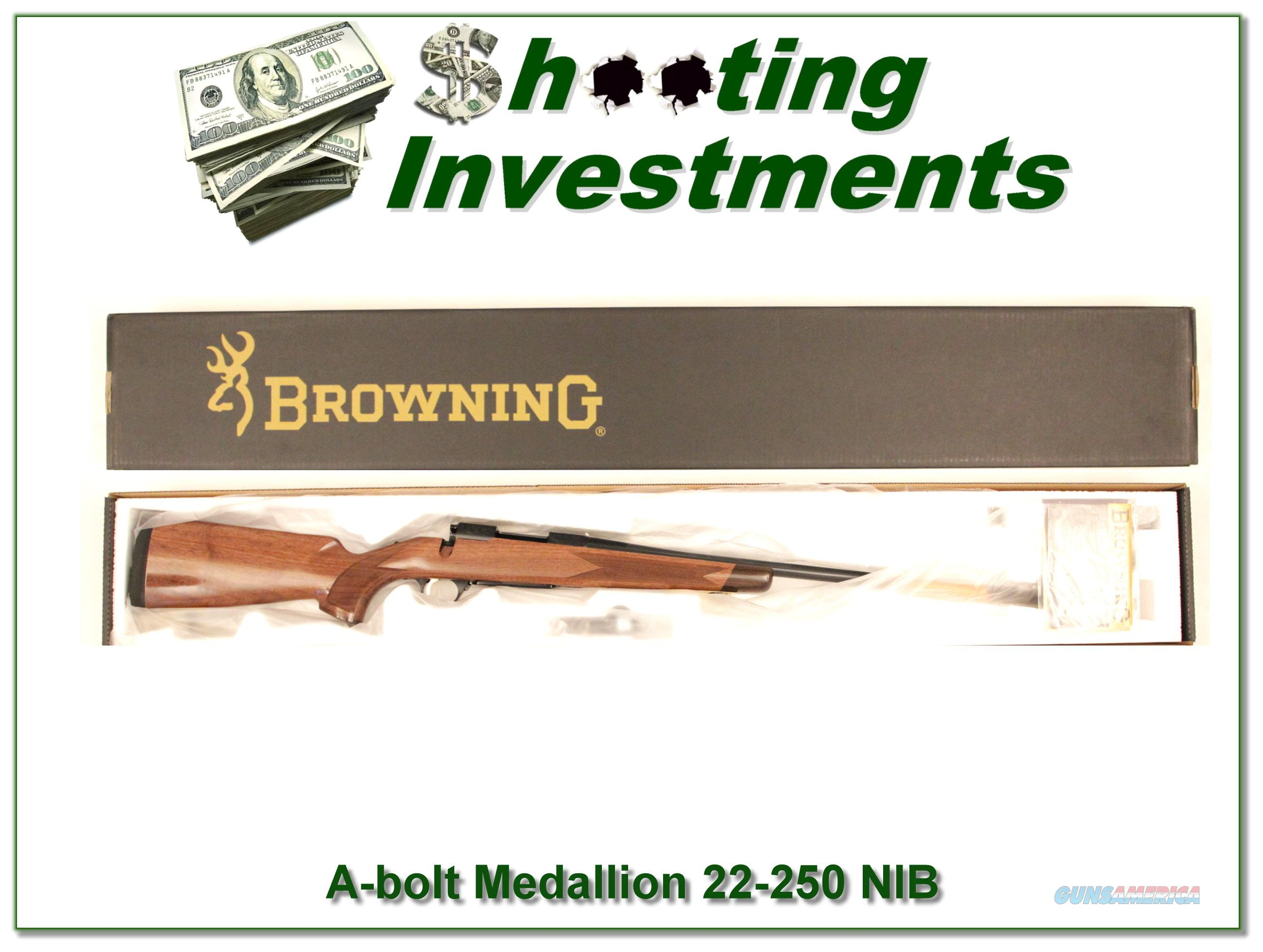 Browning A-bolt II Medallion 22-250 Win last ones!  Guns > Rifles > Browning Rifles > Bolt Action > Hunting > Blue