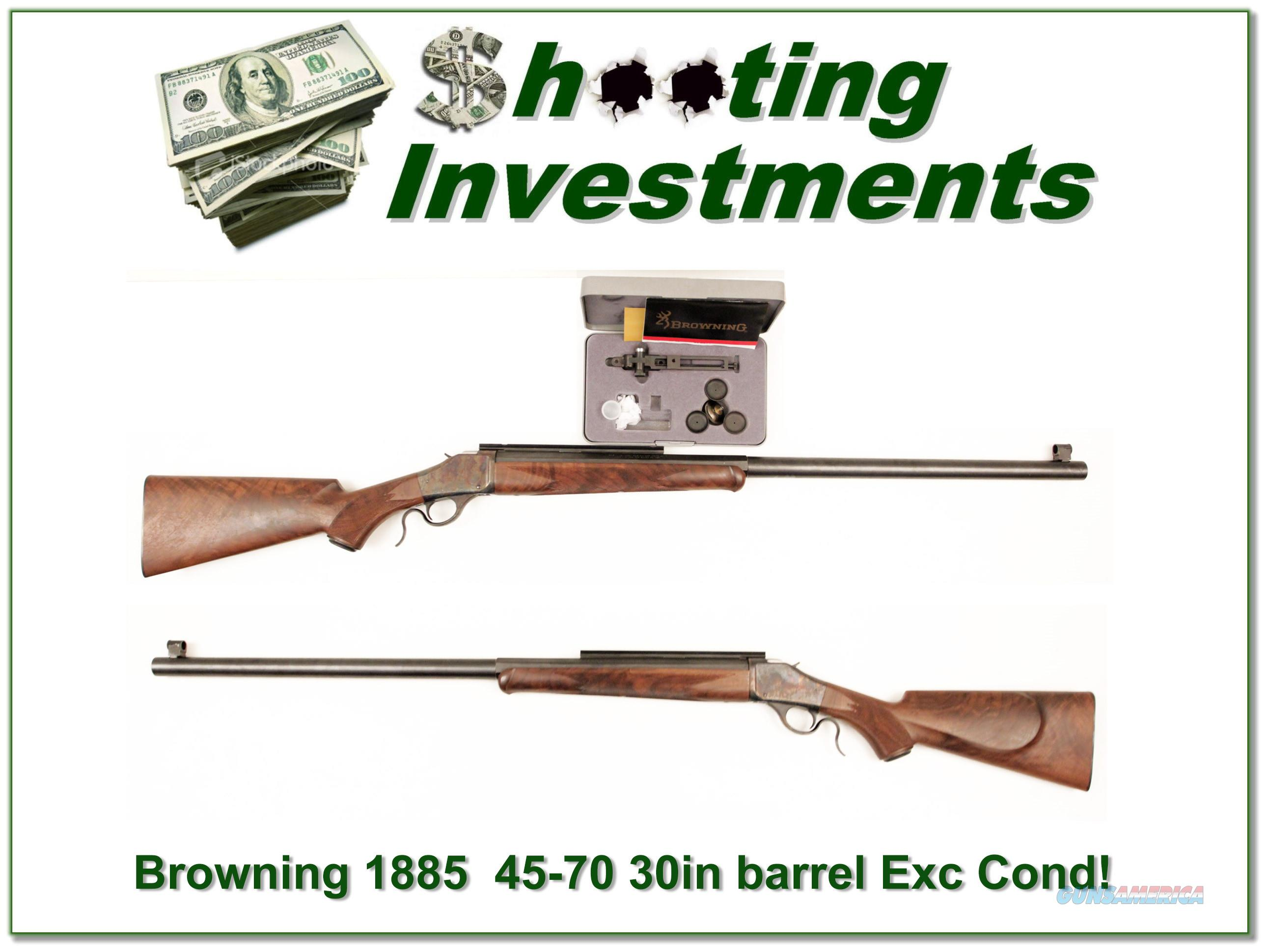 Browning 1885 45-70 BPCR 30in, case colored, oil finish!  Guns > Rifles > Browning Rifles > Singe Shot
