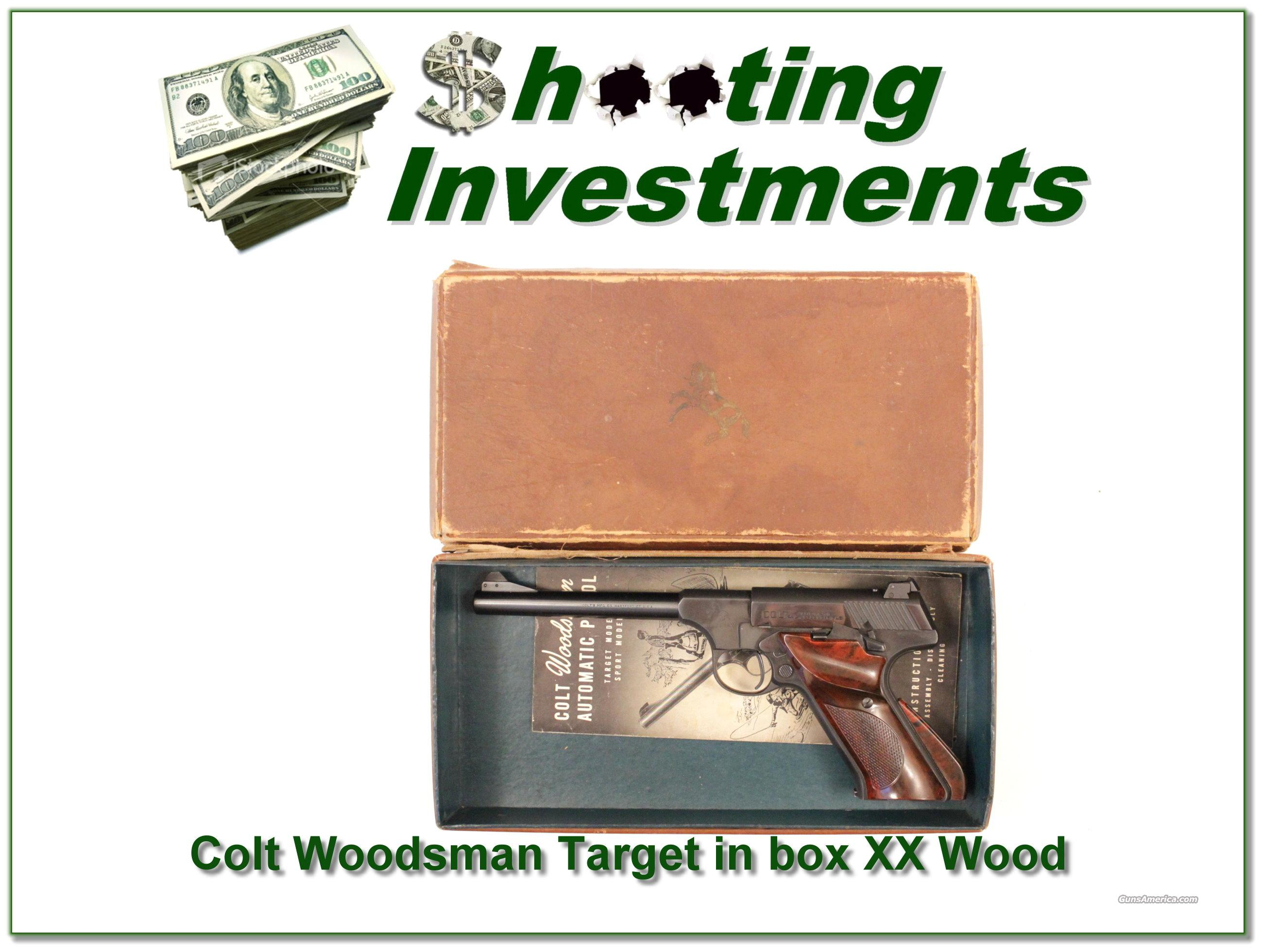 Colt Woodsman Target Model 1950 in box with manual  Guns > Pistols > Colt Automatic Pistols (22 Cal.)