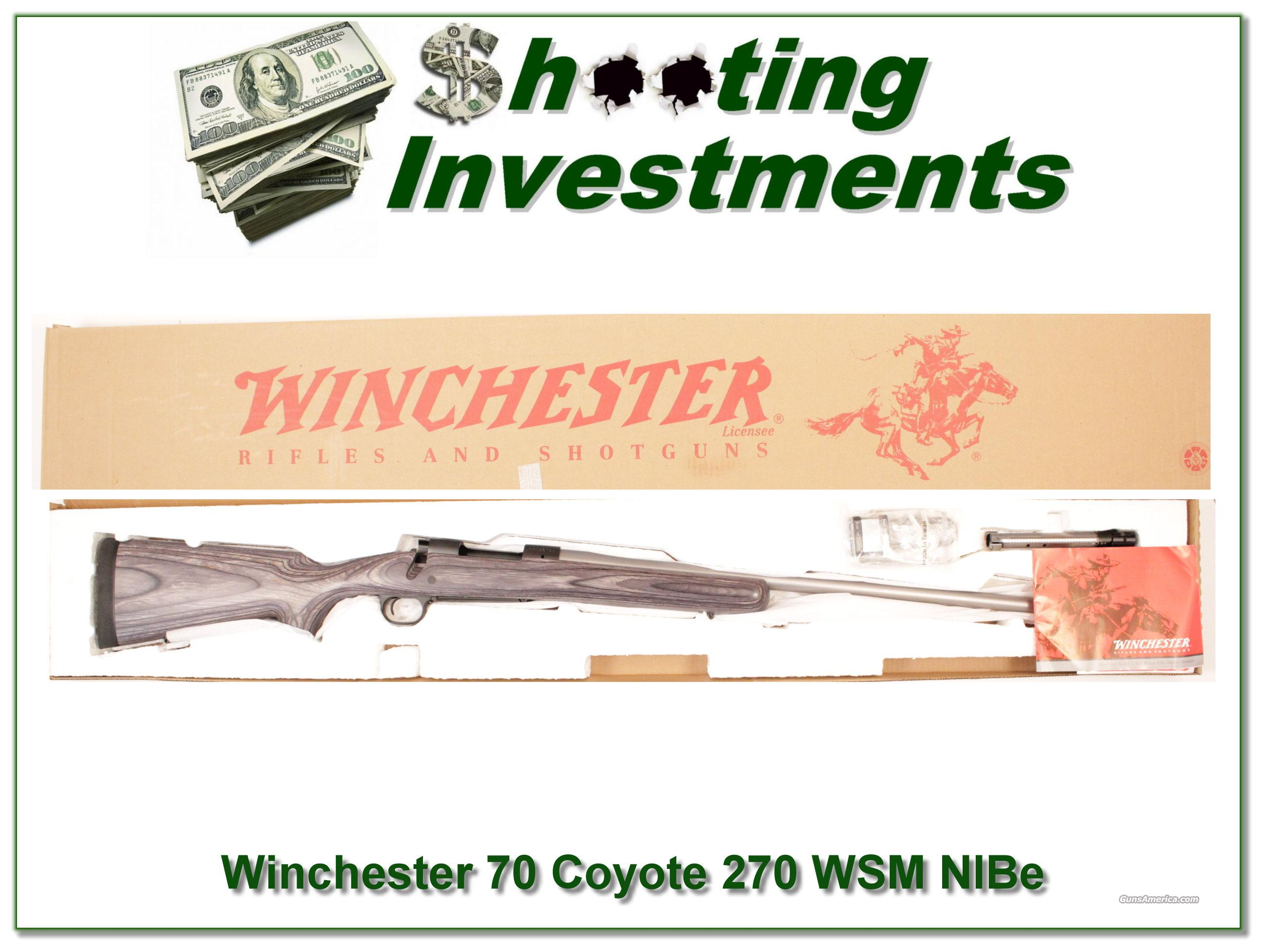 Winchester Model 70 New Haven Coyote Laminate Stainless 270 WSM  Guns > Rifles > Winchester Rifles - Modern Bolt/Auto/Single > Other Bolt Action