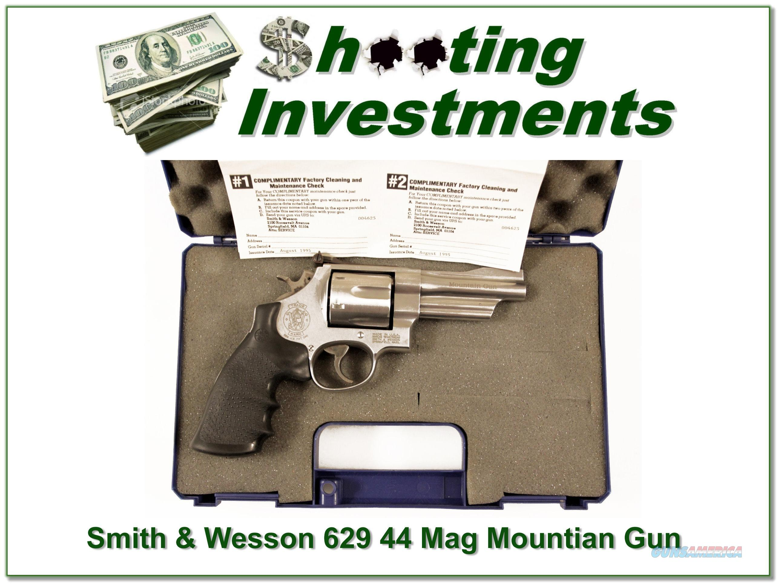 Smith & Wesson 629-4 4in 44 Mag Mountain Gun as new in case  Guns > Pistols > Smith & Wesson Revolvers > Model 629