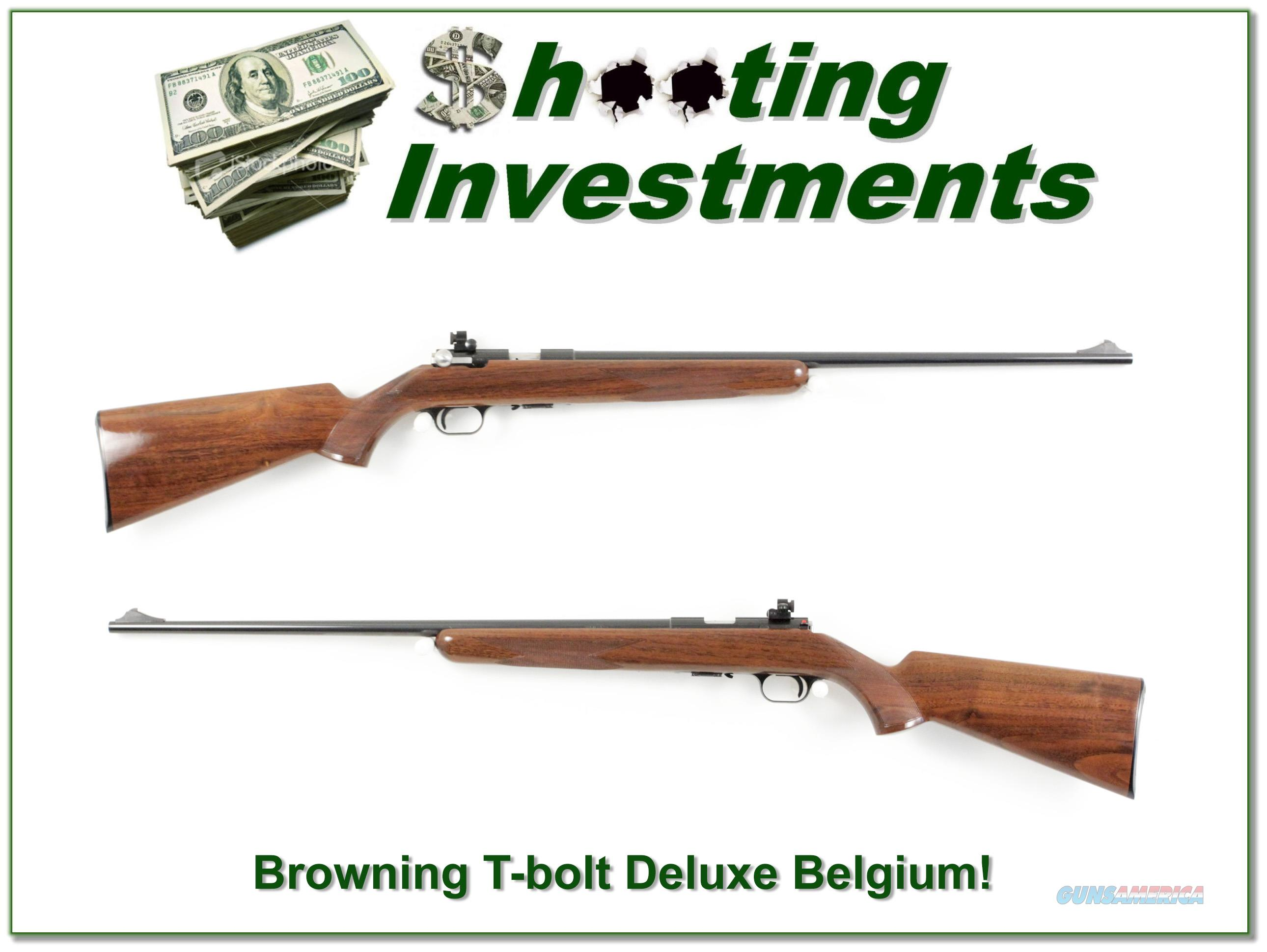 Browning T-bolt Deluxe Belgium made collector!  Guns > Rifles > Browning Rifles > Bolt Action > Hunting > Blue