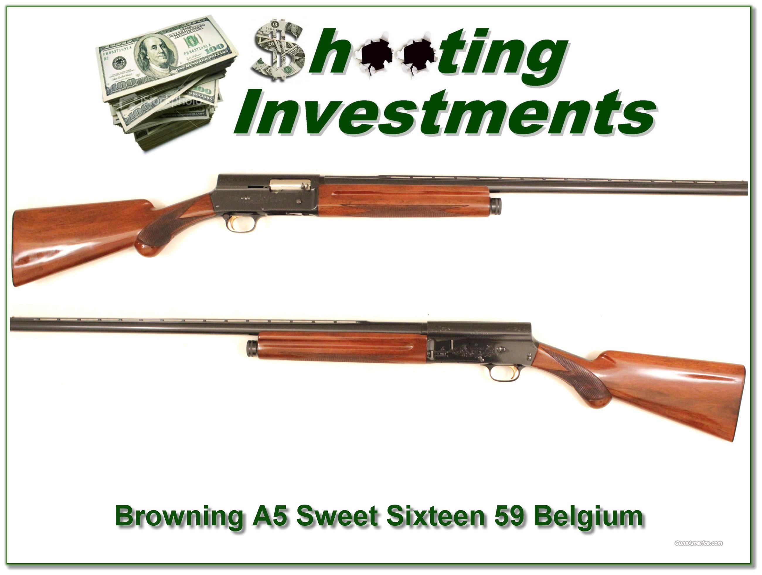 Browning A5 Sweet Sixteen 59 Belgium as new  Guns > Shotguns > Browning Shotguns > Autoloaders > Hunting