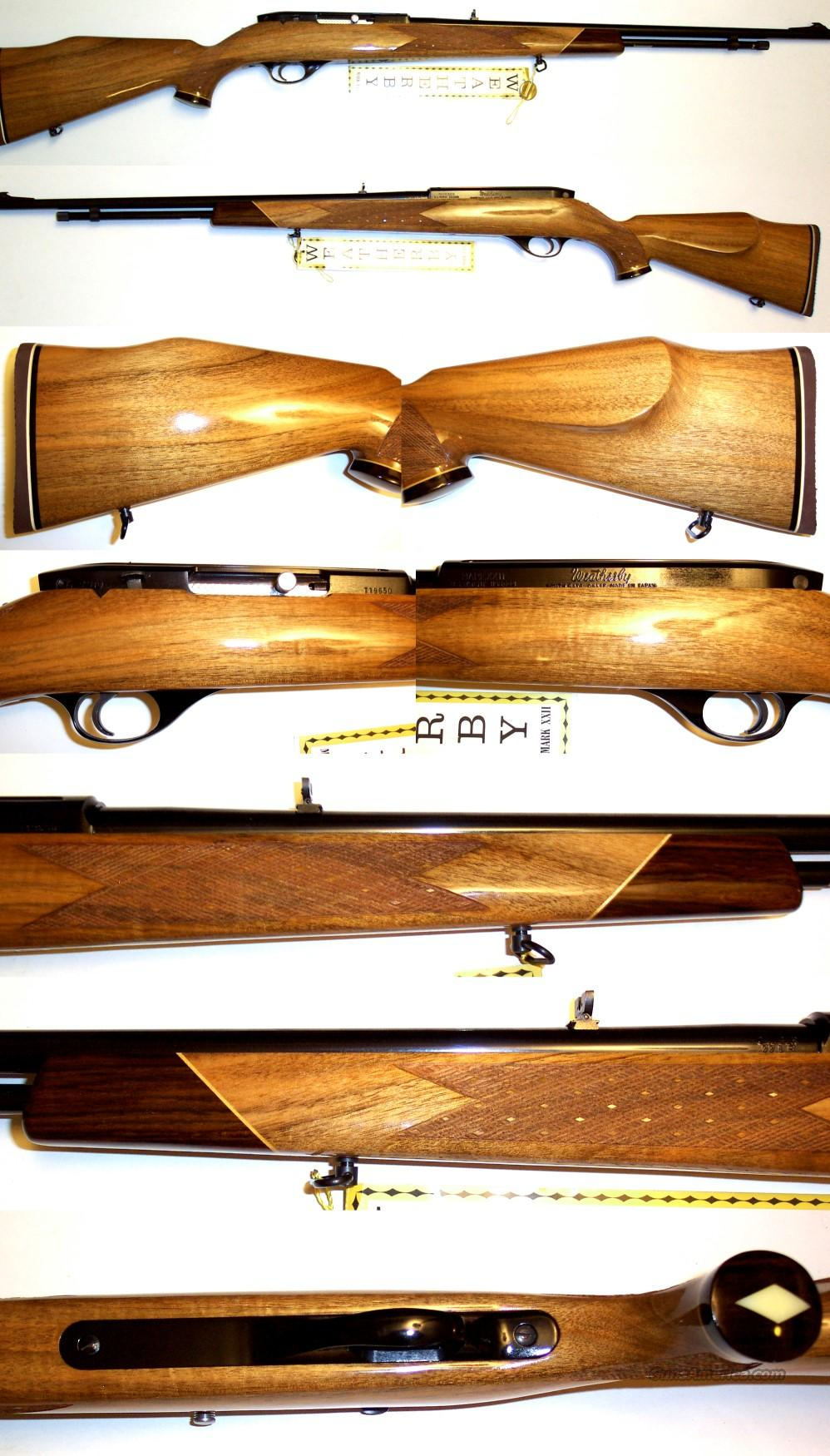 Weatherby XXII 22 vintage semi-auto in unfired condition  Guns > Rifles > Weatherby Rifles > Sporting