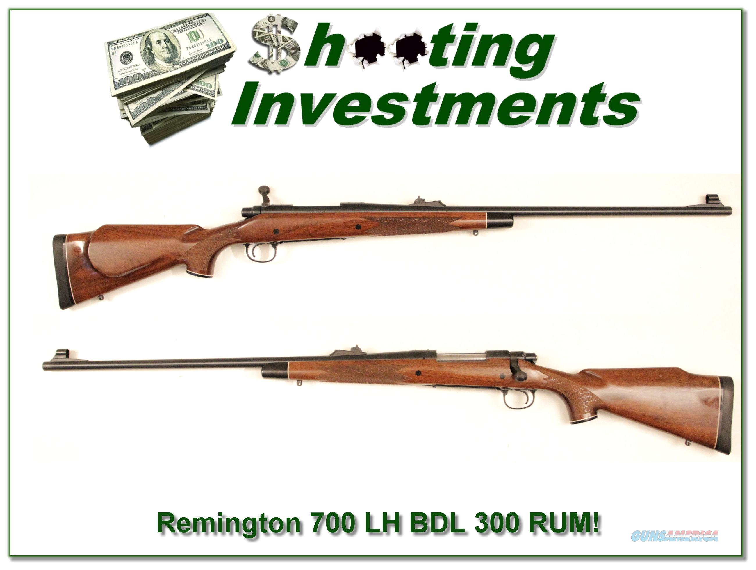 Remington 700 BDL Left Handed 300 RUM !  Guns > Rifles > Remington Rifles - Modern > Model 700 > Sporting
