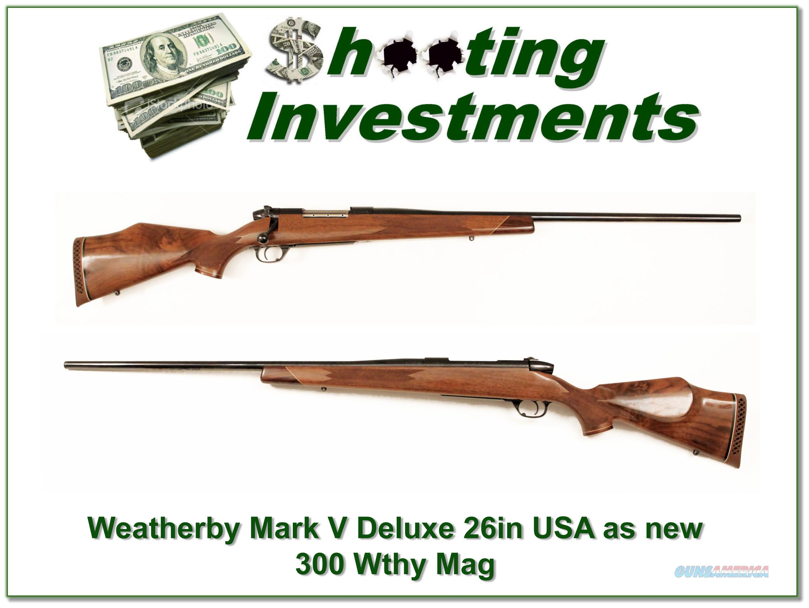 Weatherby Mark Deluxe 7mm Wthy Mag USA Made as new!  Guns > Rifles > Weatherby Rifles > Sporting
