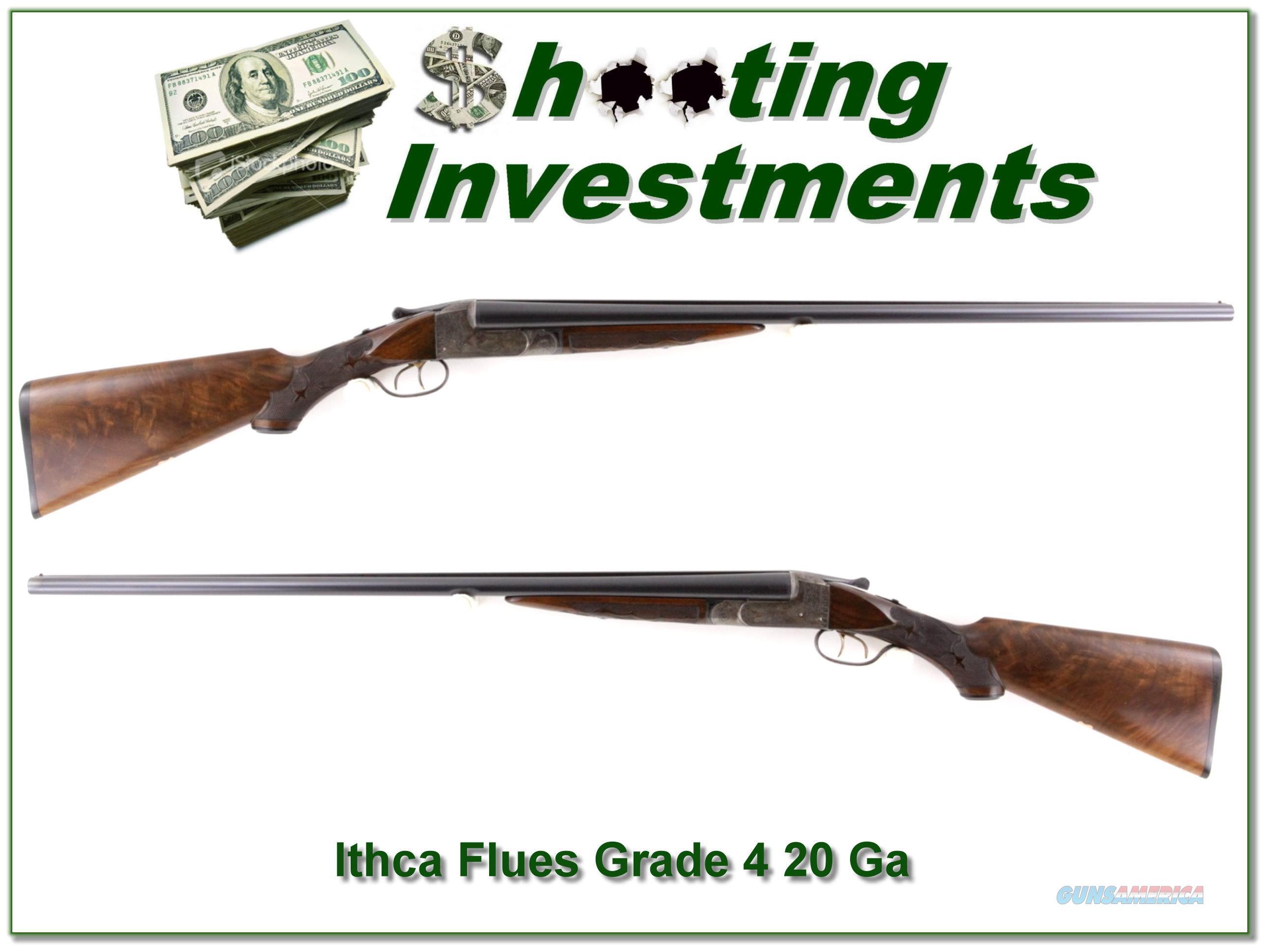Ithaca Flues RARE Grade 4 20 Ga Full & Full  Guns > Shotguns > Ithaca Shotguns > SxS