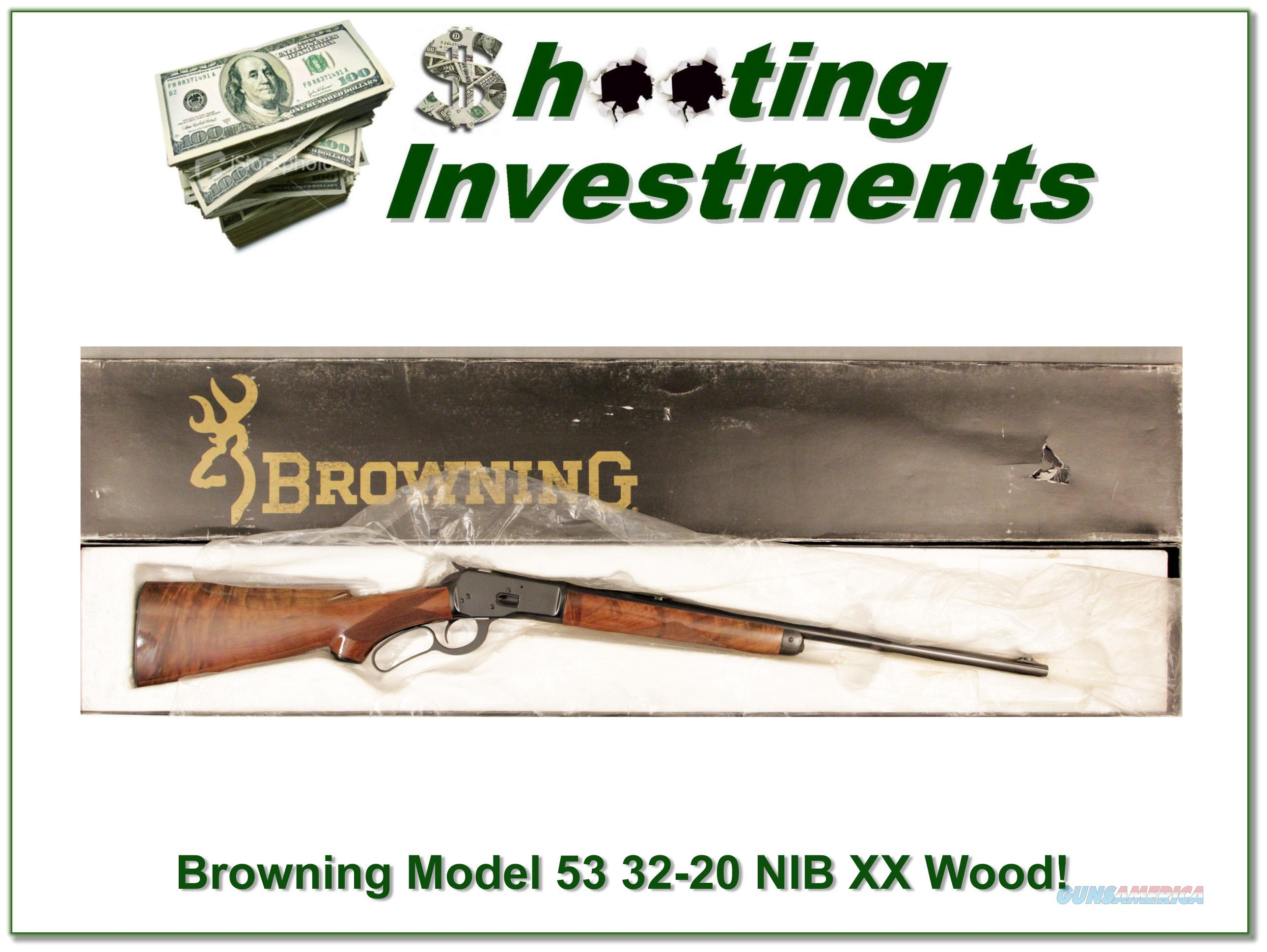 Browning Model 53 32-20 NIB with XX Wood!  Guns > Rifles > Browning Rifles > Lever Action