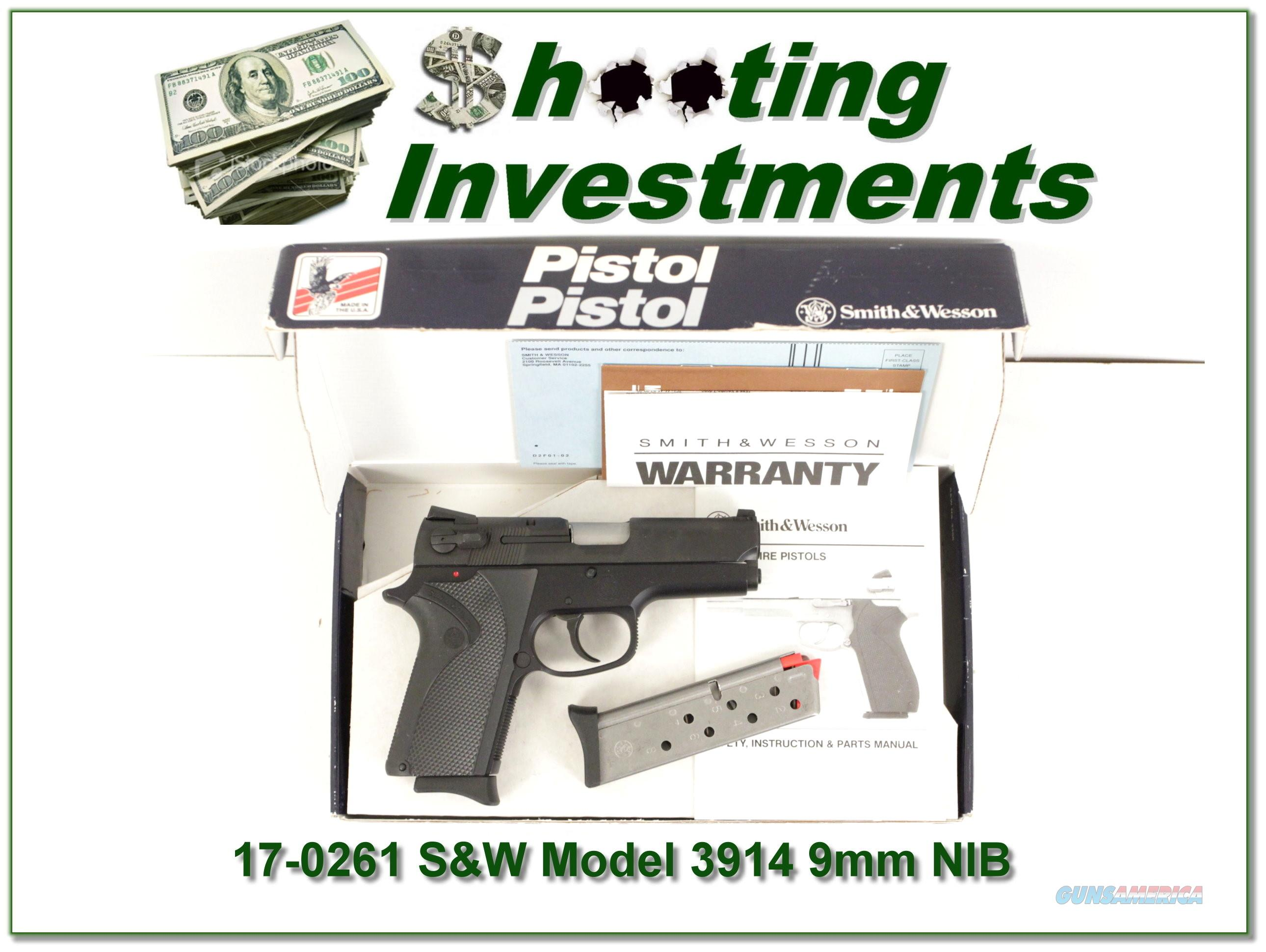 Smith & Wesson Model 3914 9mm NIB!  Guns > Pistols > Smith & Wesson Pistols - Autos > Steel Frame
