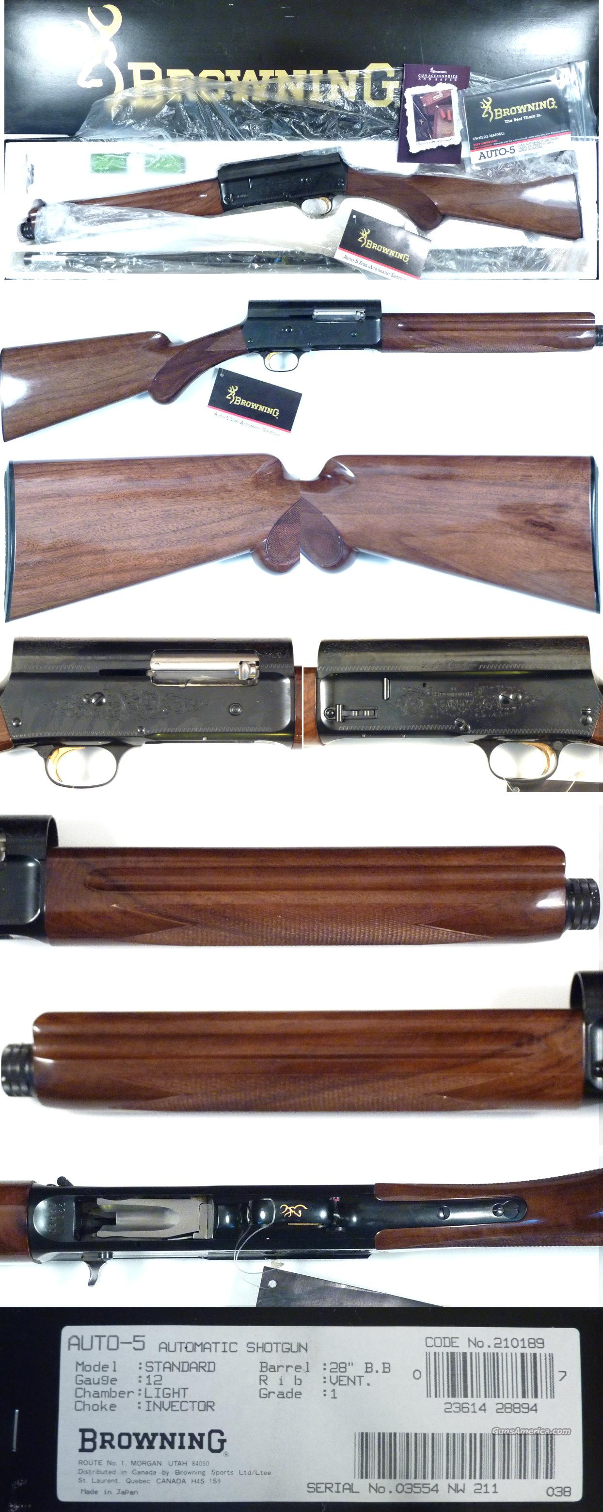 Browning A5 Light 12 New In BOX  Guns > Shotguns > Browning Shotguns > Autoloaders > Hunting