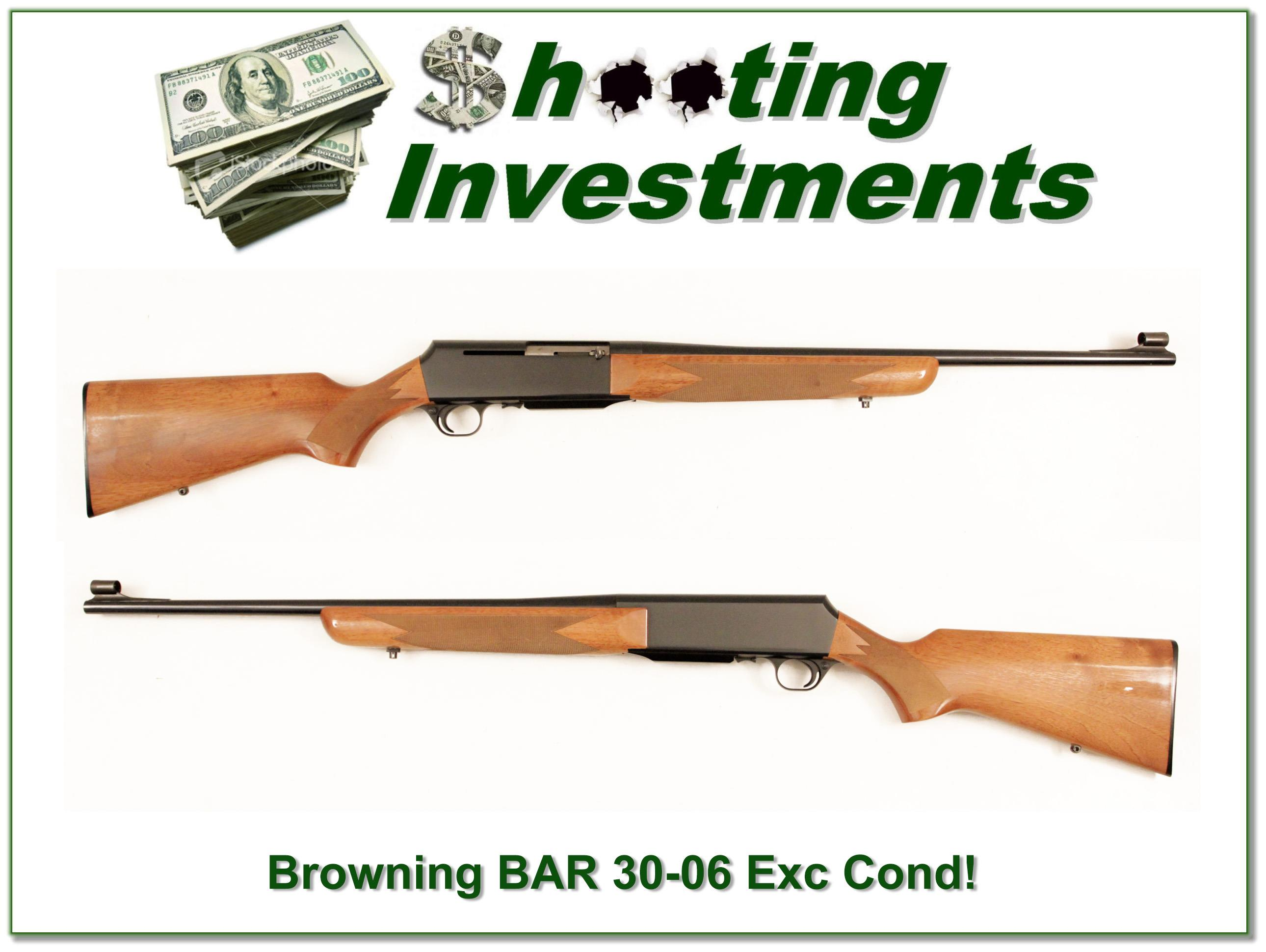 Browning BAR 30-06 Exc Cond Blond Wood!  Guns > Rifles > Browning Rifles > Semi Auto > Hunting