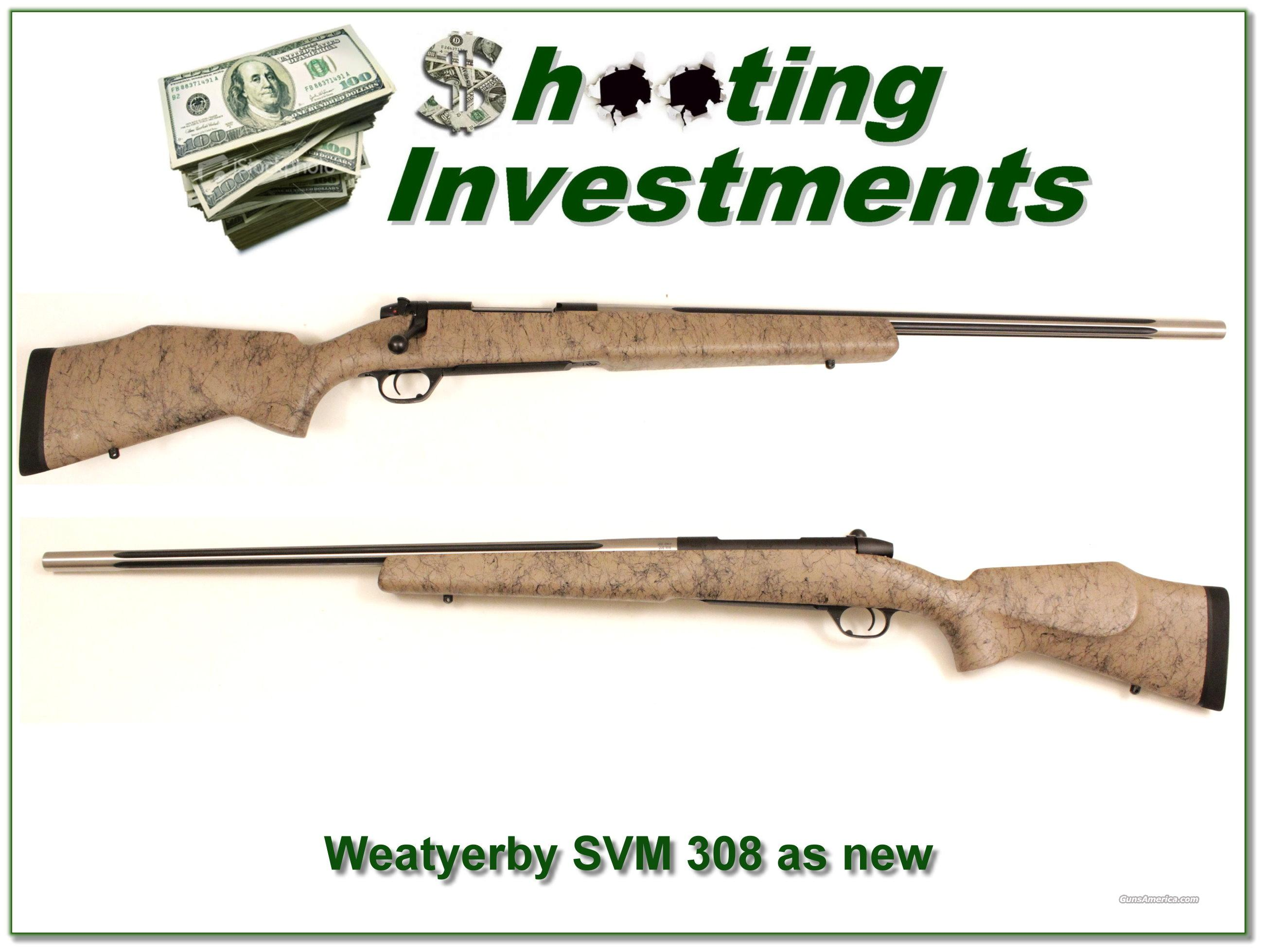 Weatherby Mark V Super Varmintmaster 308 Exc Cond  Guns > Rifles > Weatherby Rifles > Sporting