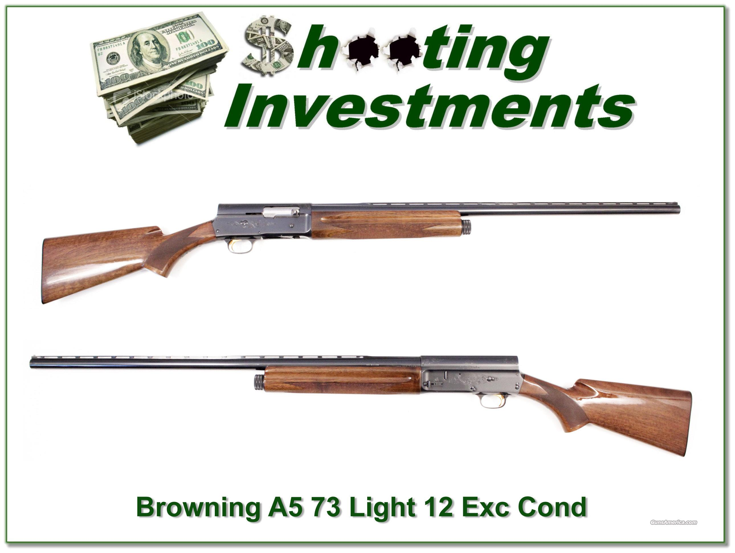Browning A5 Light 12 73 Belgium Exc Cond  Guns > Shotguns > Browning Shotguns > Autoloaders > Hunting