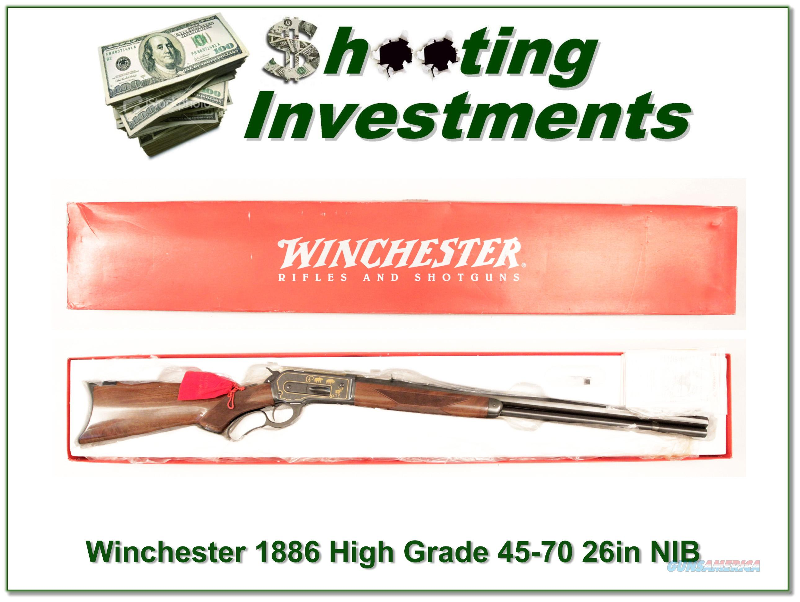 Winchester 1886 High Grade 26in NIB!    Guns > Rifles > Winchester Rifles - Modern Lever > Other Lever > Post-64