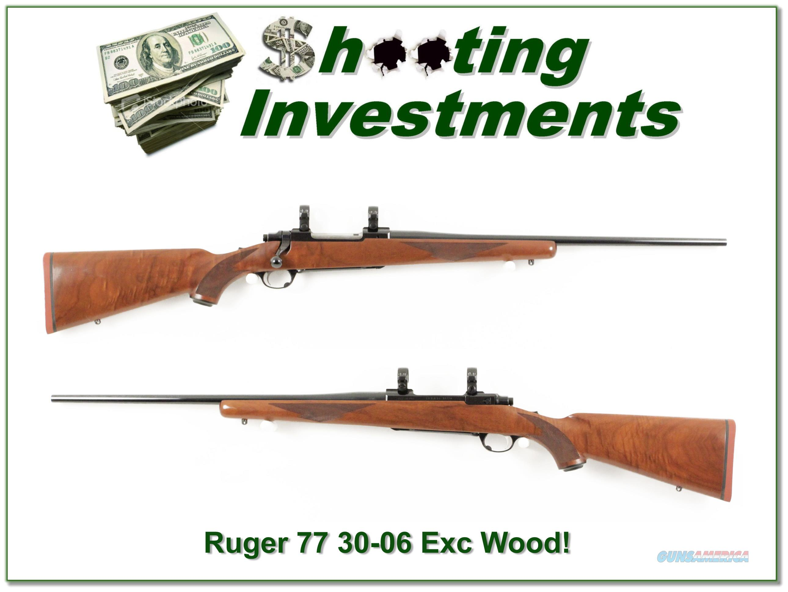 Ruger 77 30-06 Red Pad Tang Safety super wood!  Guns > Rifles > Ruger Rifles > Model 77