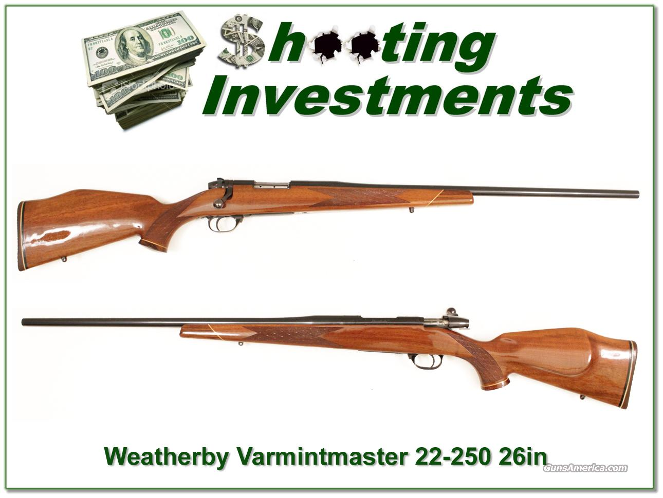 "Weatherby Mark V Deluxe 22-250 Varmint Master 26""  Guns > Rifles > Weatherby Rifles > Sporting"